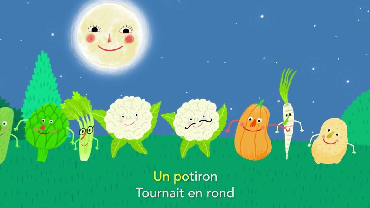 La Ronde Des Légumes Les Chansons De Pinpin Et Lili à Chanson Sur Les Fruits Et Légumes
