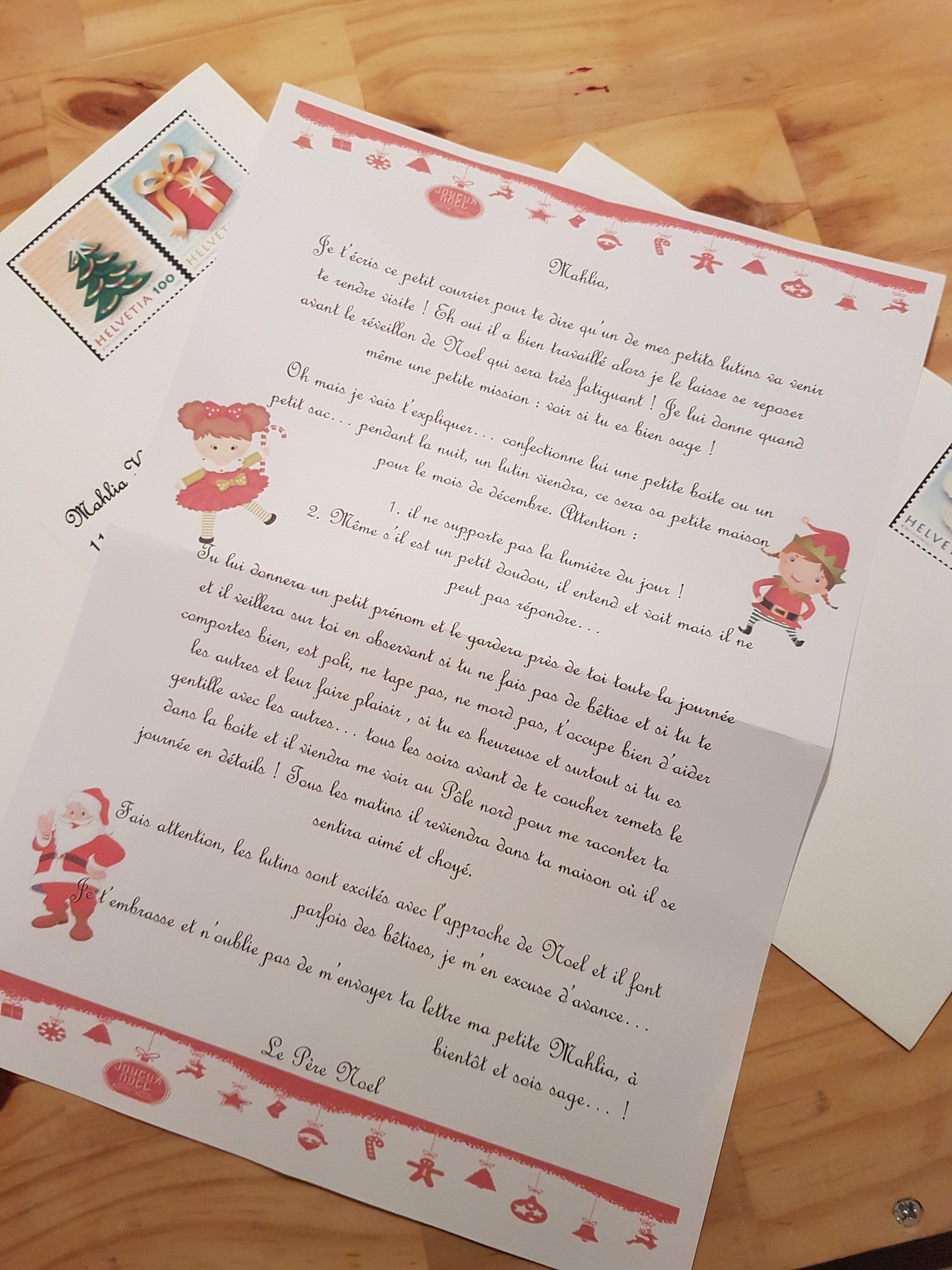 La Tradition Du Petit Lutin En Attendant Le Père Noël serapportantà Reponse Lettre Du Pere Noel A Imprimer