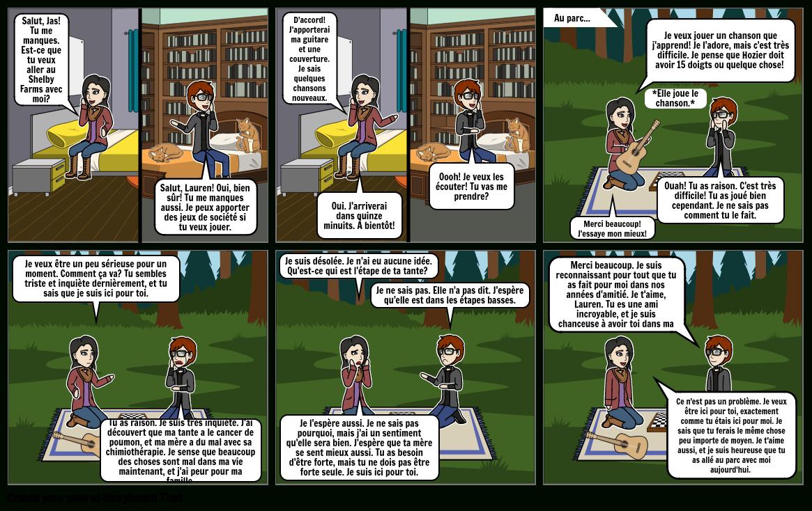 La Vraie Amitié Storyboard Von Jasmineabel pour Chanson Pense À Moi