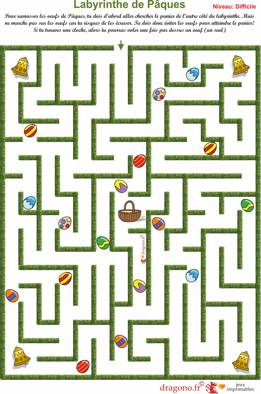 Labyrinthes De Pâques - Dragono.fr destiné Labyrinthe Difficile