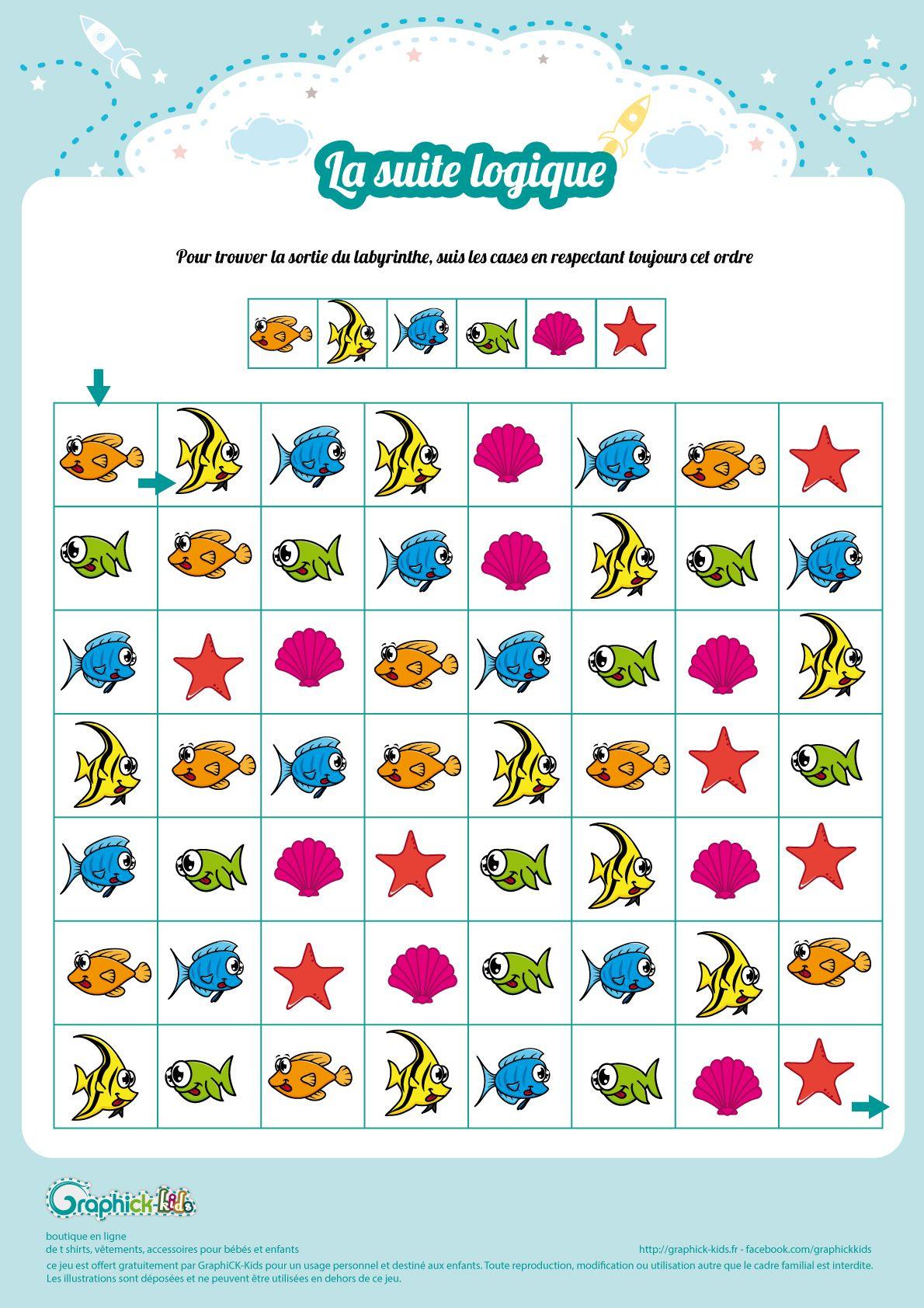 L'activité Du Mercredi : La Suite Logique De L'océan | Jeux avec Jeux Enfant Gratuit En Ligne
