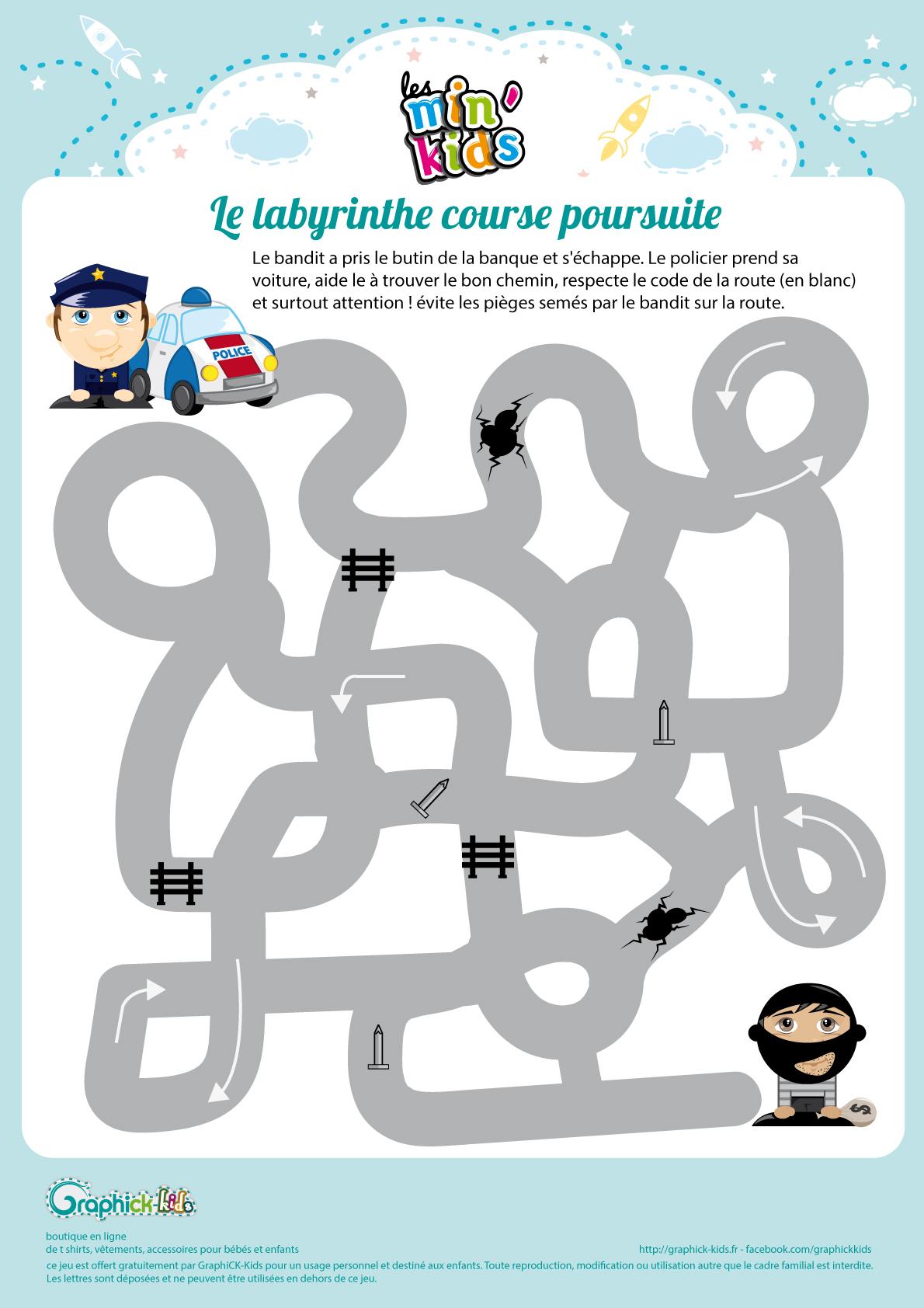 L'activité Du Mercredi : Le Labyrinthe Course Poursuite à Jeux Enfant Gratuit En Ligne