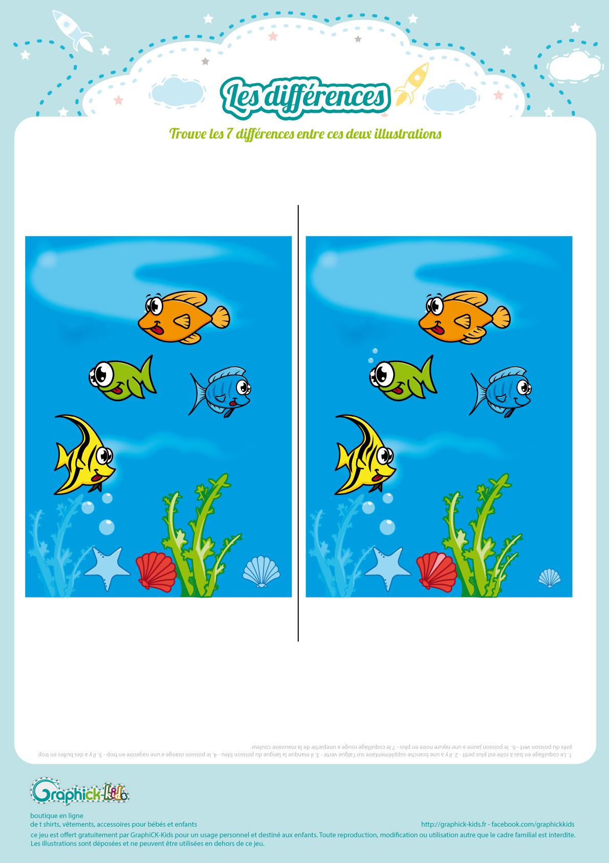 L'activité Du Mercredi : Les Différences De L'océan pour Jeux Enfant Gratuit En Ligne
