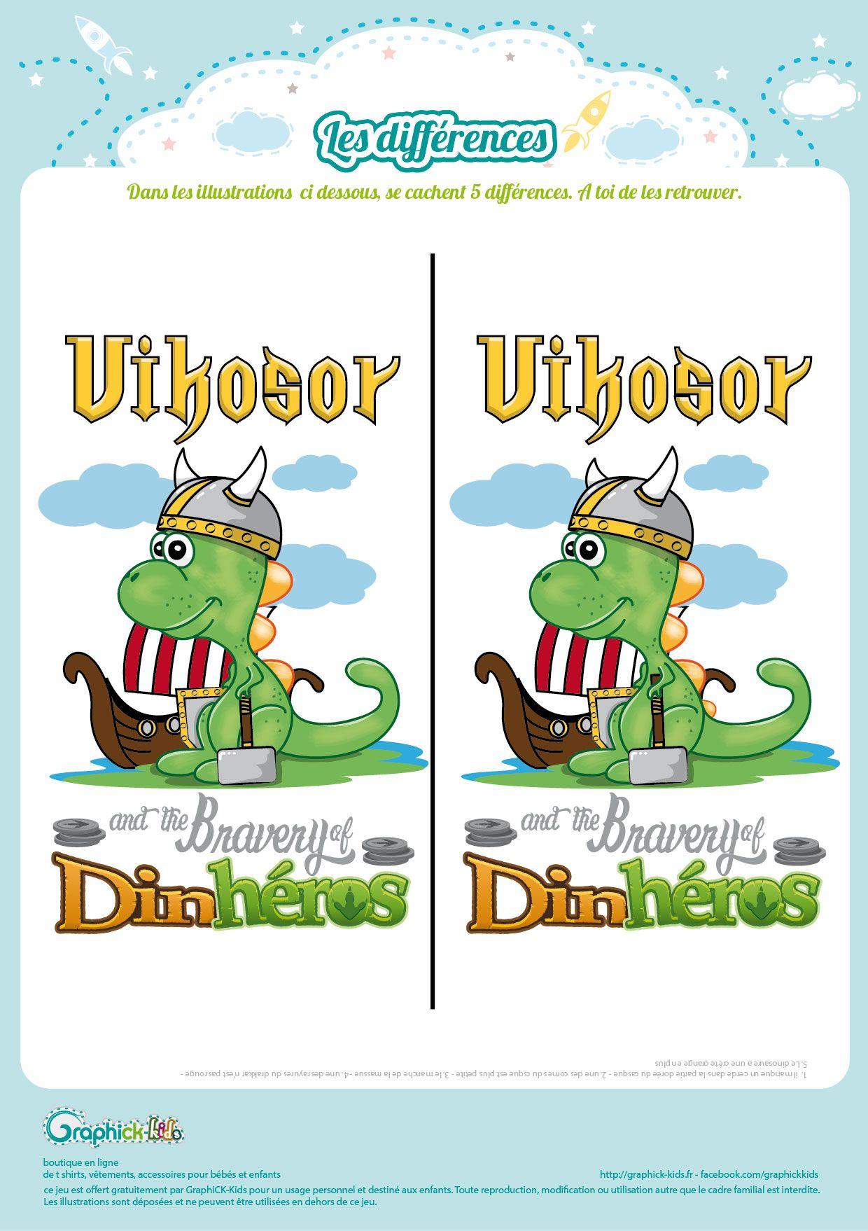 L'activité Du Mercredi : Les Différences D'un Dinosaure avec Jeux Des Differences Gratuit