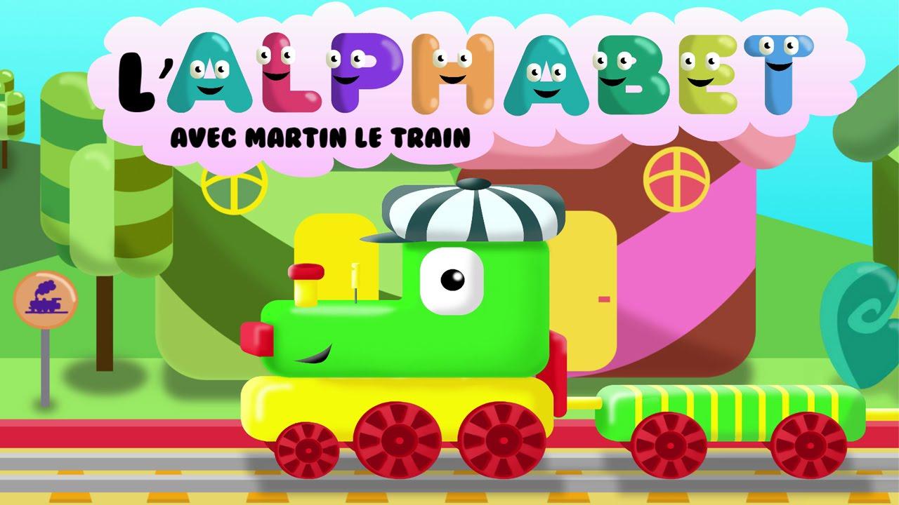 L'alphabet Avec Martin Le Train | Apprendre Les Lettres De L'alphabet Pour  Les Enfants Hd destiné Jeux De Lettres Enfants