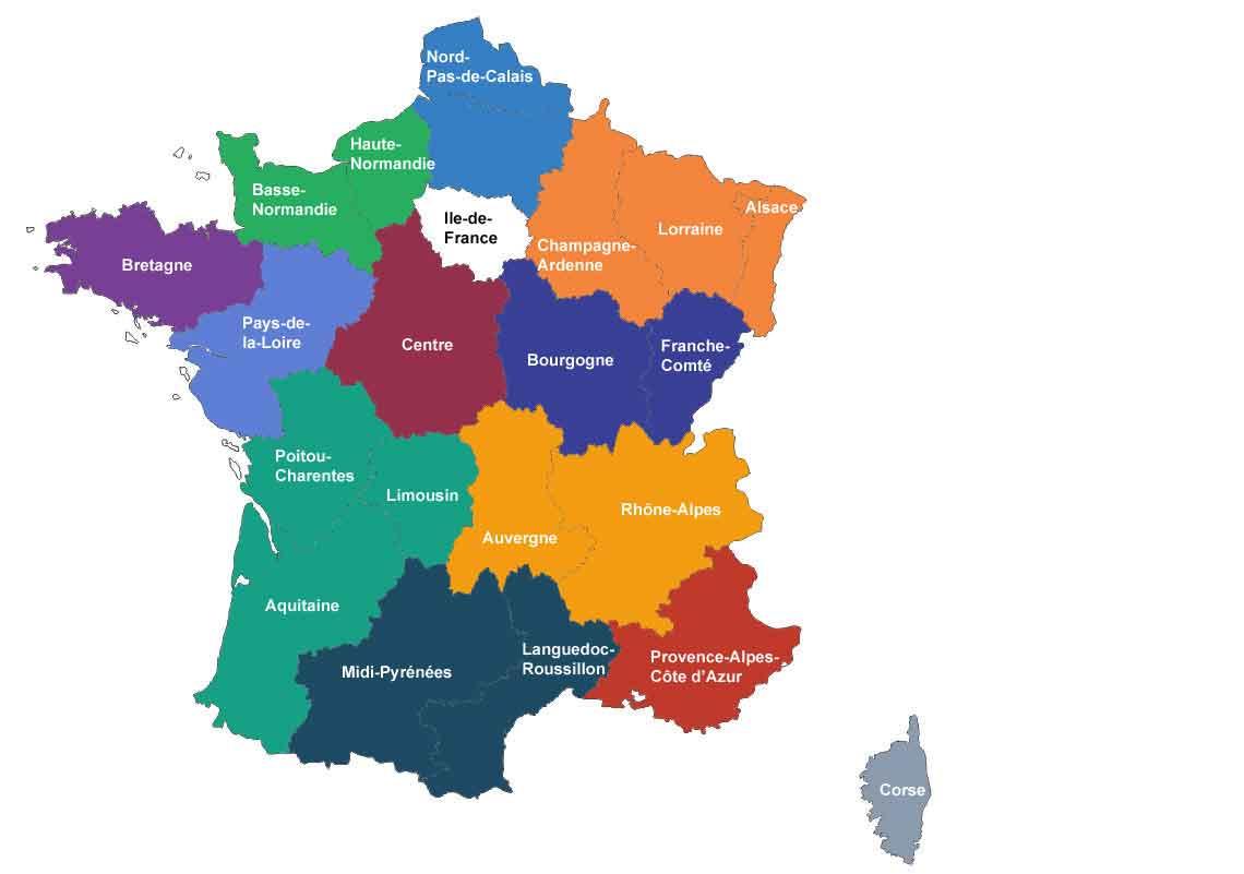 L'assemblée Donne Son Feu Vert À La France À 13 Régions dedans Nouvelle Carte Des Régions De France