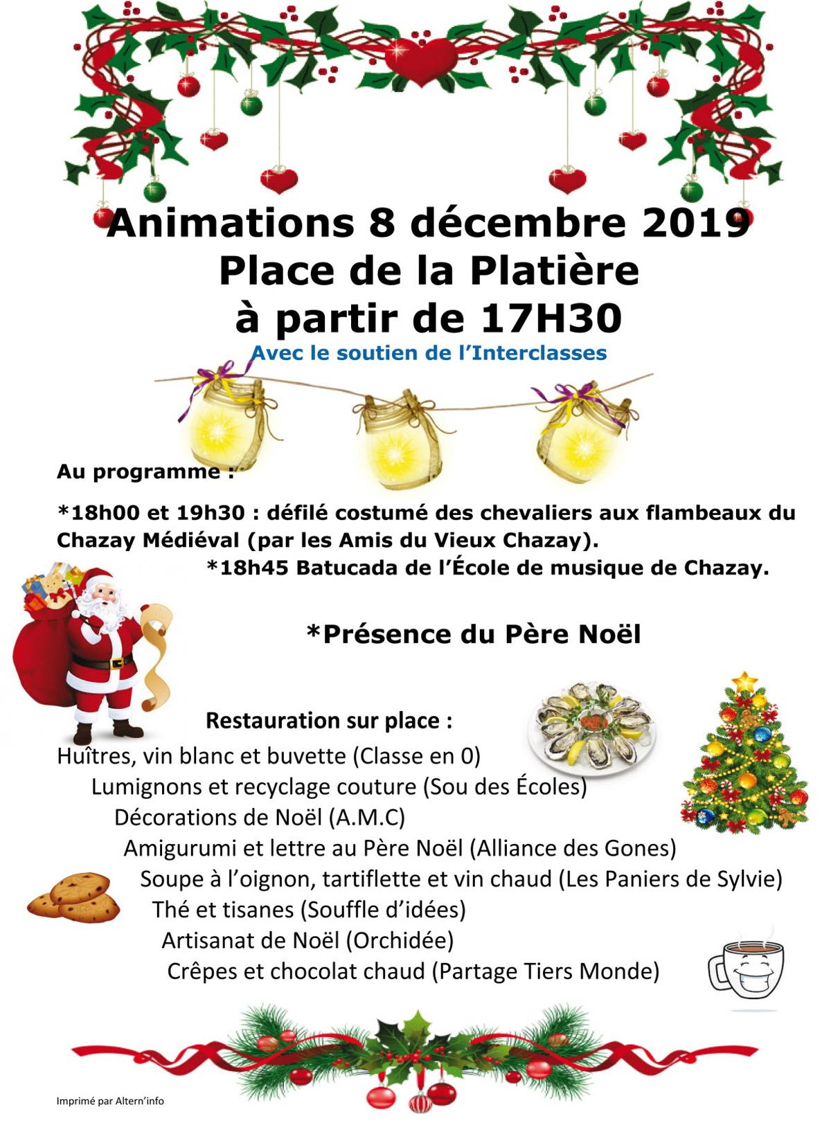 Le 8 Decembre : Fete, Carnaval, Kermesse A Chazay D Azergues intérieur Musique Du Père Noël