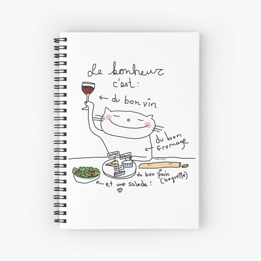 Le Bonheur C'est /ooh La La (French Doodles) | Spiral Notebook tout Bon The Bonheur