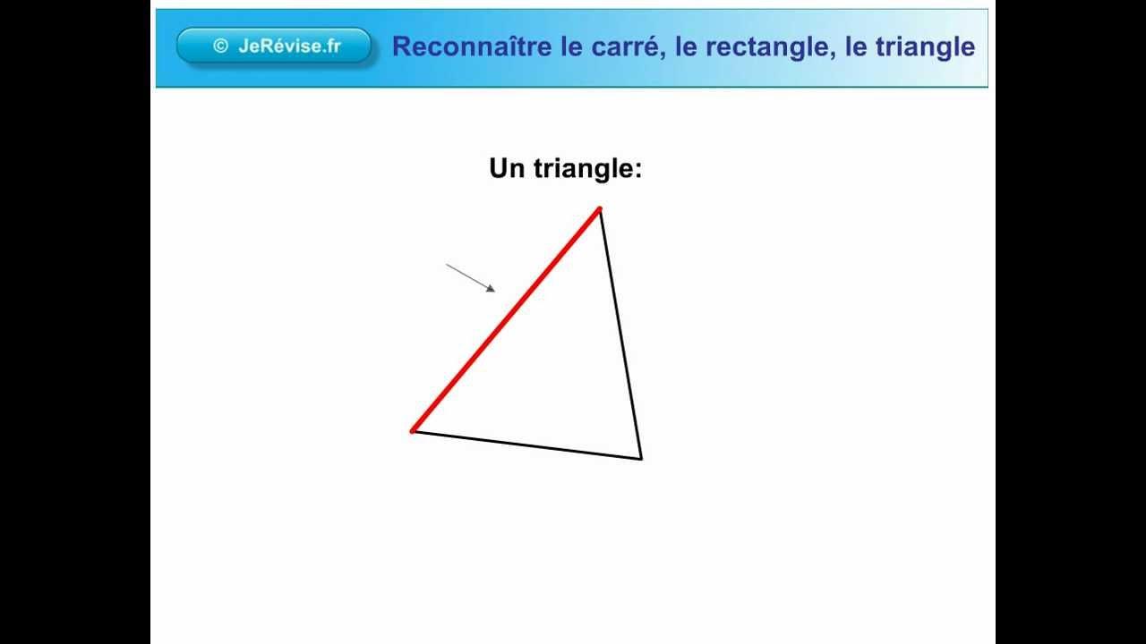 Le Carré, Le Rectangle Et Le Triangle. Leçon De Géométrie Pour Le Cp Et Le  Ce1 destiné Figures Géométriques Ce1