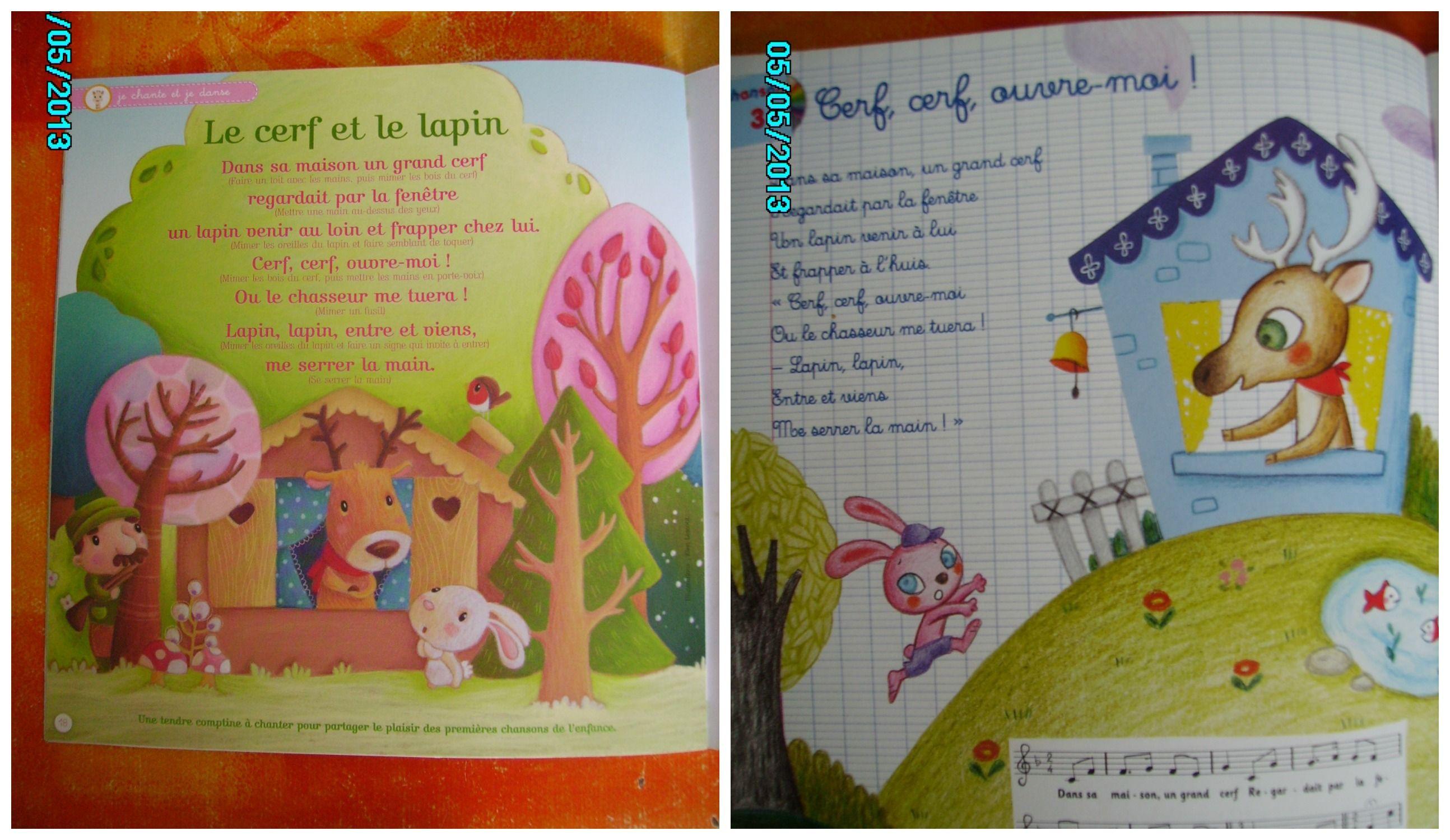 Le Cerf Et Le Lapin !! à Chanson Du Cerf Et Du Lapin