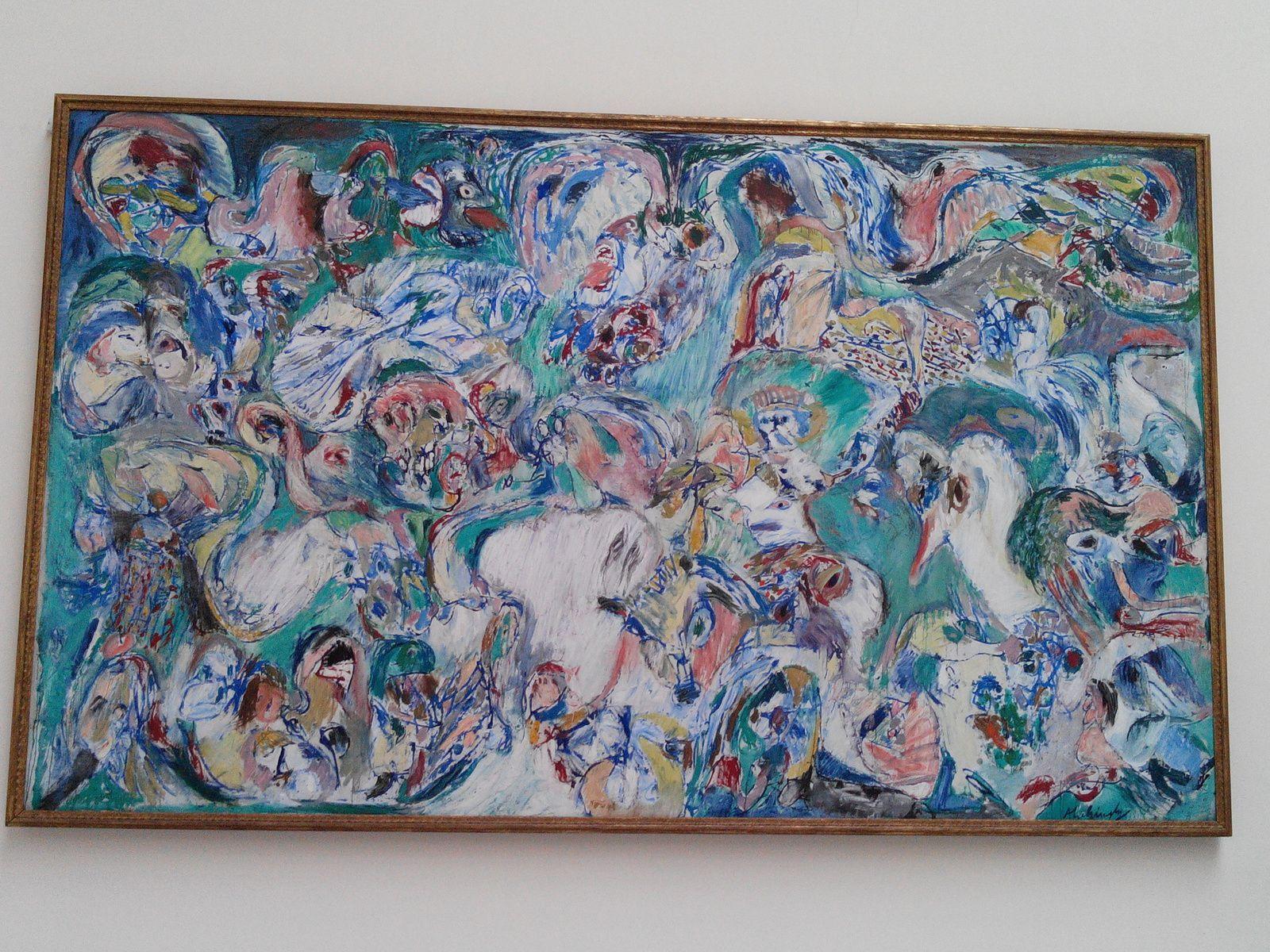 """Le Dernier Jour"""" Tableau De Pierre Alechinsky - .projet encequiconcerne Oeuvre Alechinsky"""