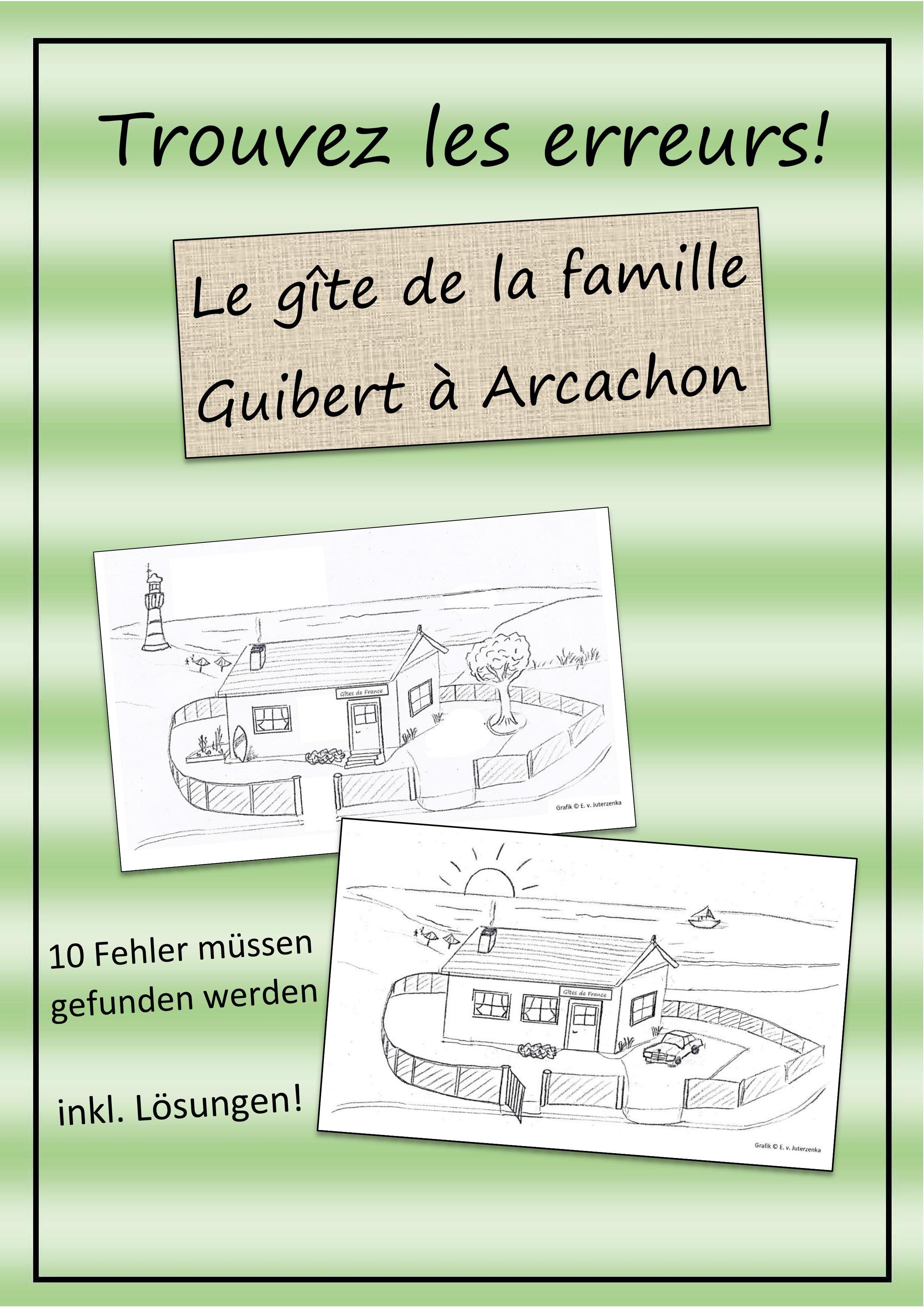 Le Gîte De La Famille Guibert À Arcachon - Trouve Les dedans Les 5 Differences