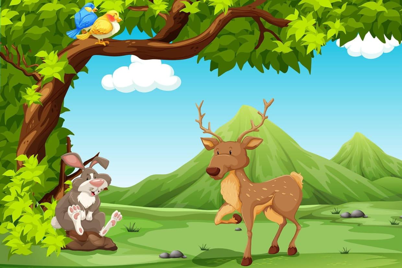 Le Grand Cerf Et Le Lapin, Chansons Pour Enfants Sur encequiconcerne Chanson Du Cerf Et Du Lapin