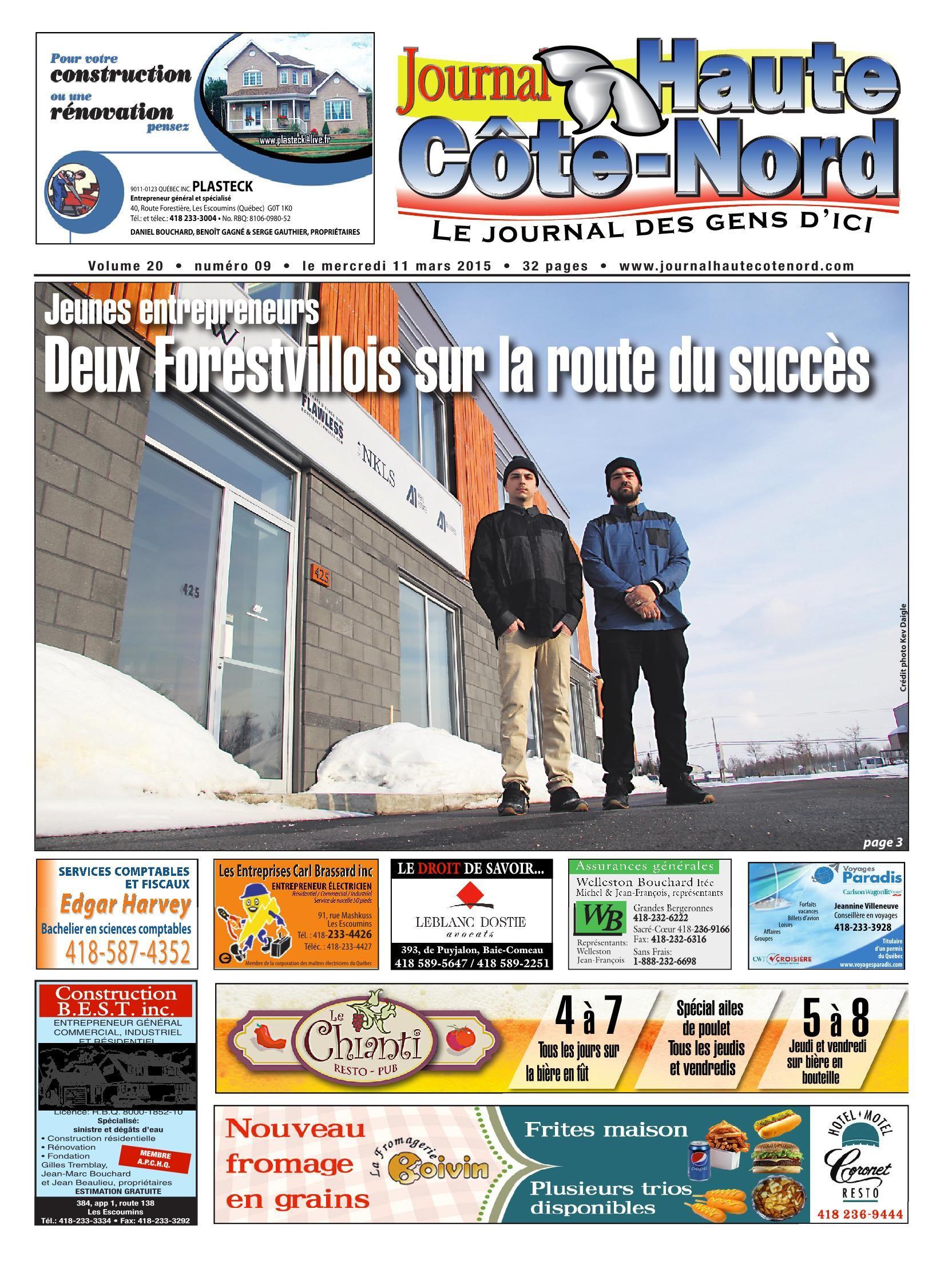 Le Haute-Côte-Nord 11 Mars 2015 Pages 1 - 32 - Text Version tout Mars De Maurice Careme A Imprimer