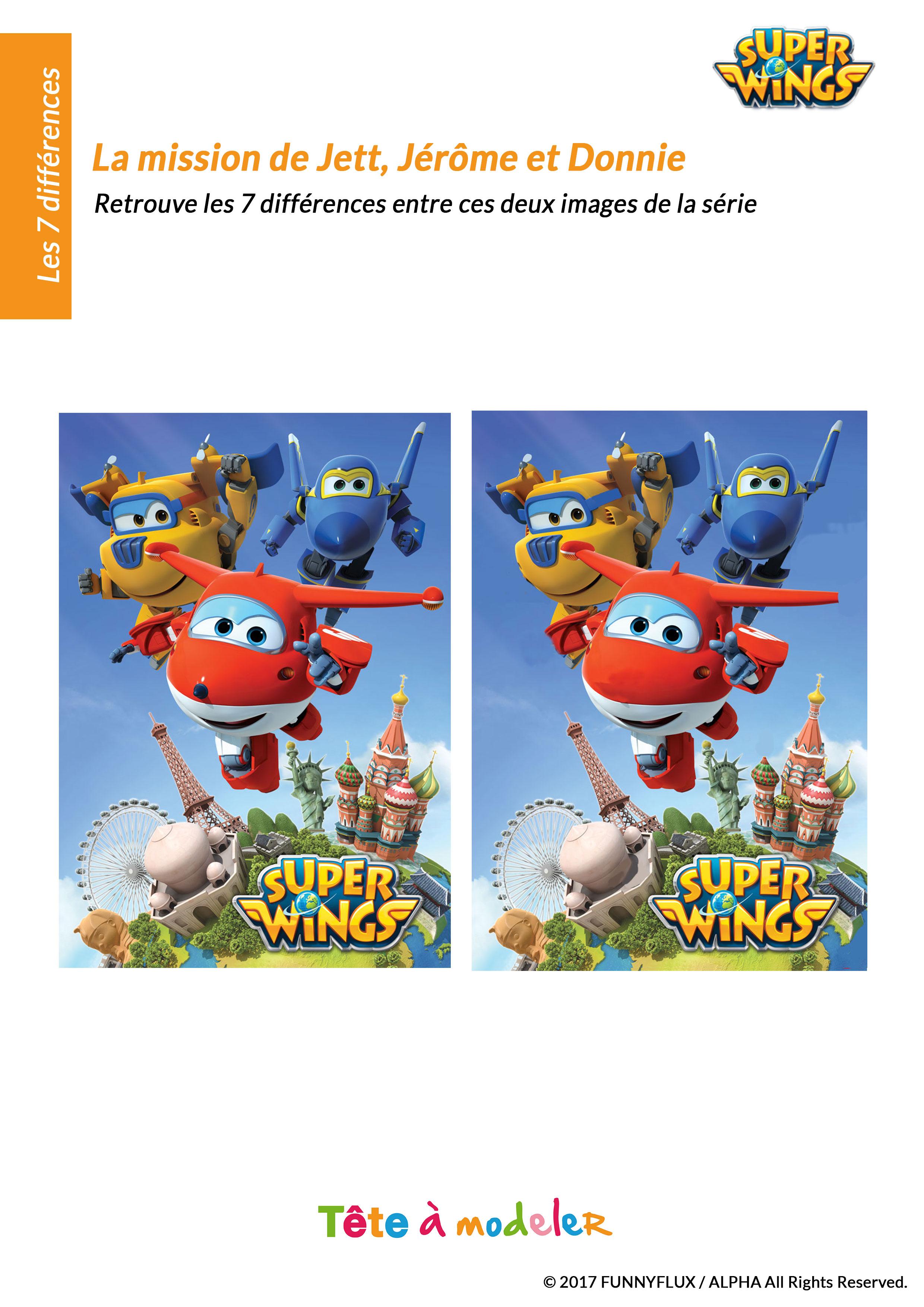 Le Jeu Des 7 Différences Super Wings à Jeux De Concentration À Imprimer