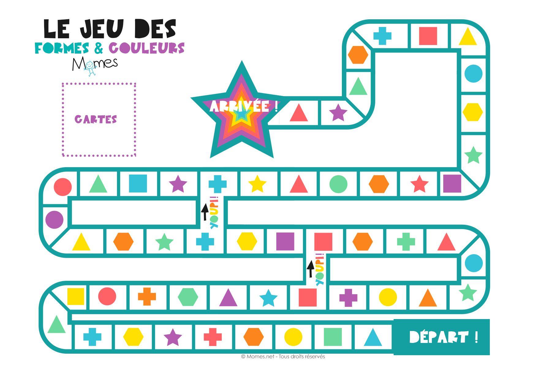 Le Jeu Des Formes Et Des Couleurs |  Jeux Imprimer, Jeu pour Jeux Educatif 4 Ans
