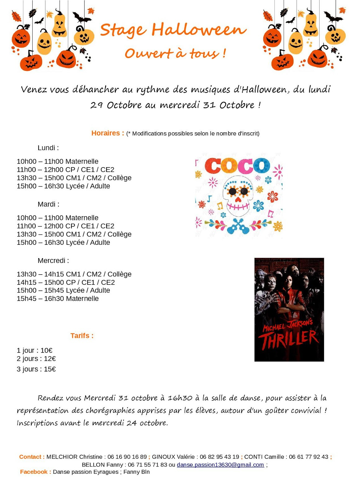 Le Journal D'eyragues: Danse Passion : Stage Halloween! encequiconcerne Halloween Ce2