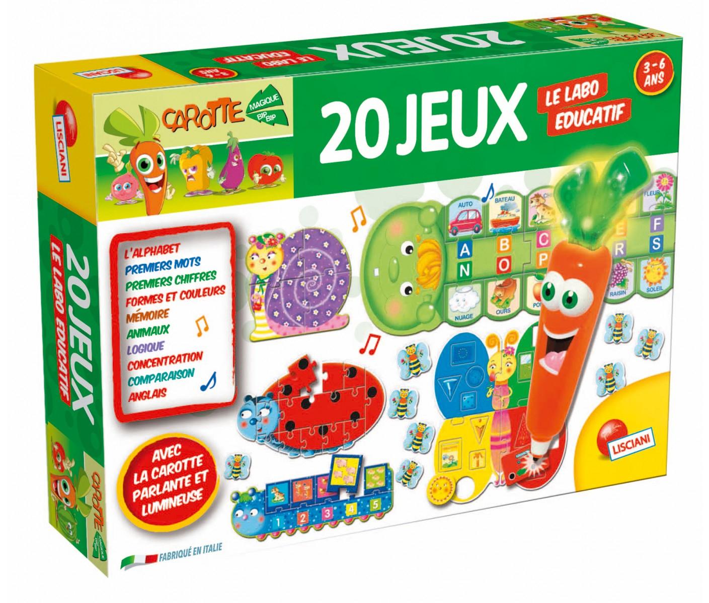 Le Labo Educatif Carotte Magique 20 Jeux tout Jeux Educatif 3 An