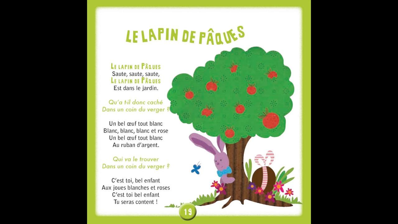 Le Lapin De Pâques - 100 Chansons & Comptines À L'école Maternelle destiné Chanson Enfant Lapin