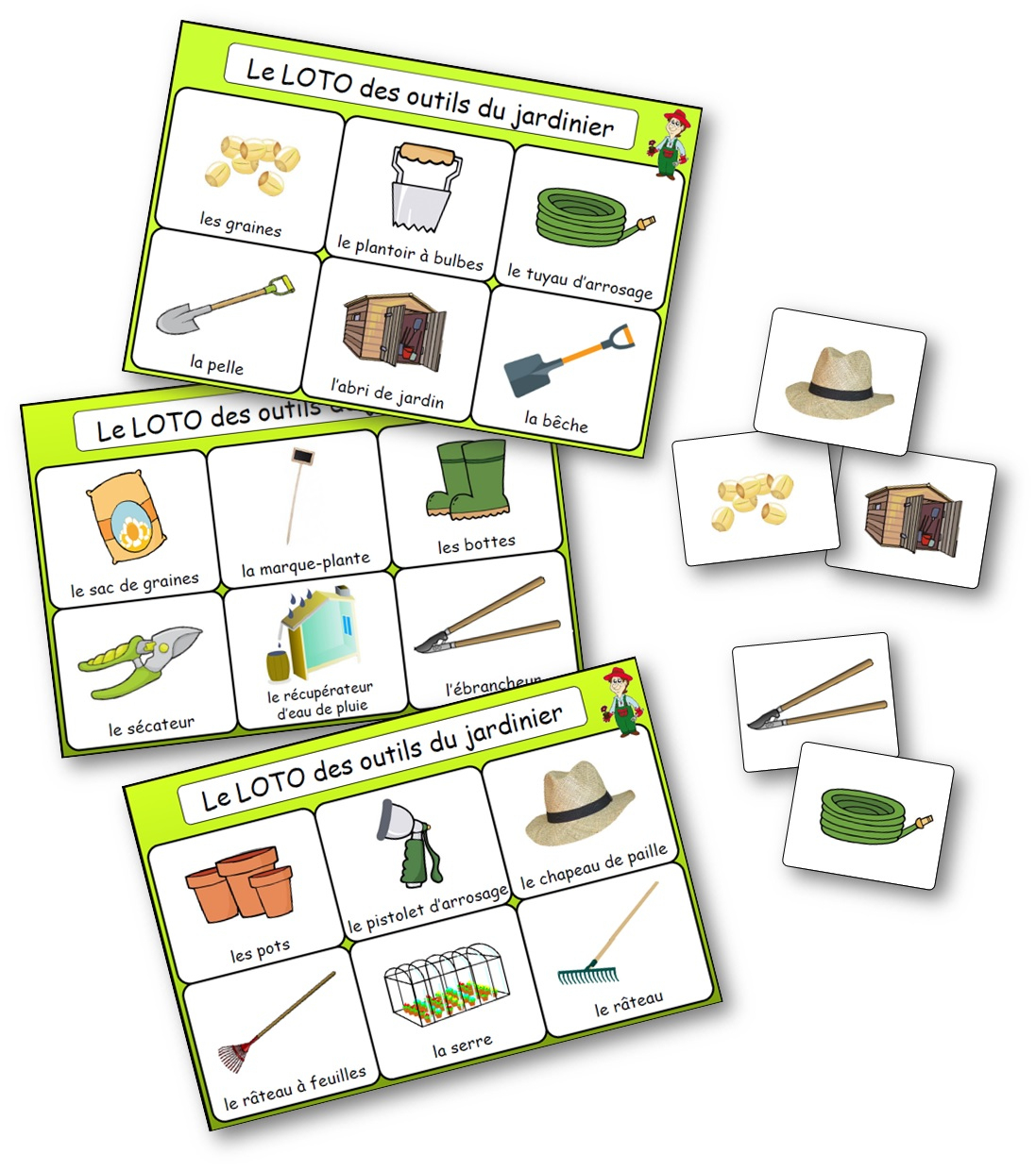 Le Loto Des Outils Du Jardinier - Jeu De Bingo Du Jardinage à Jeux De Maternelle À Imprimer