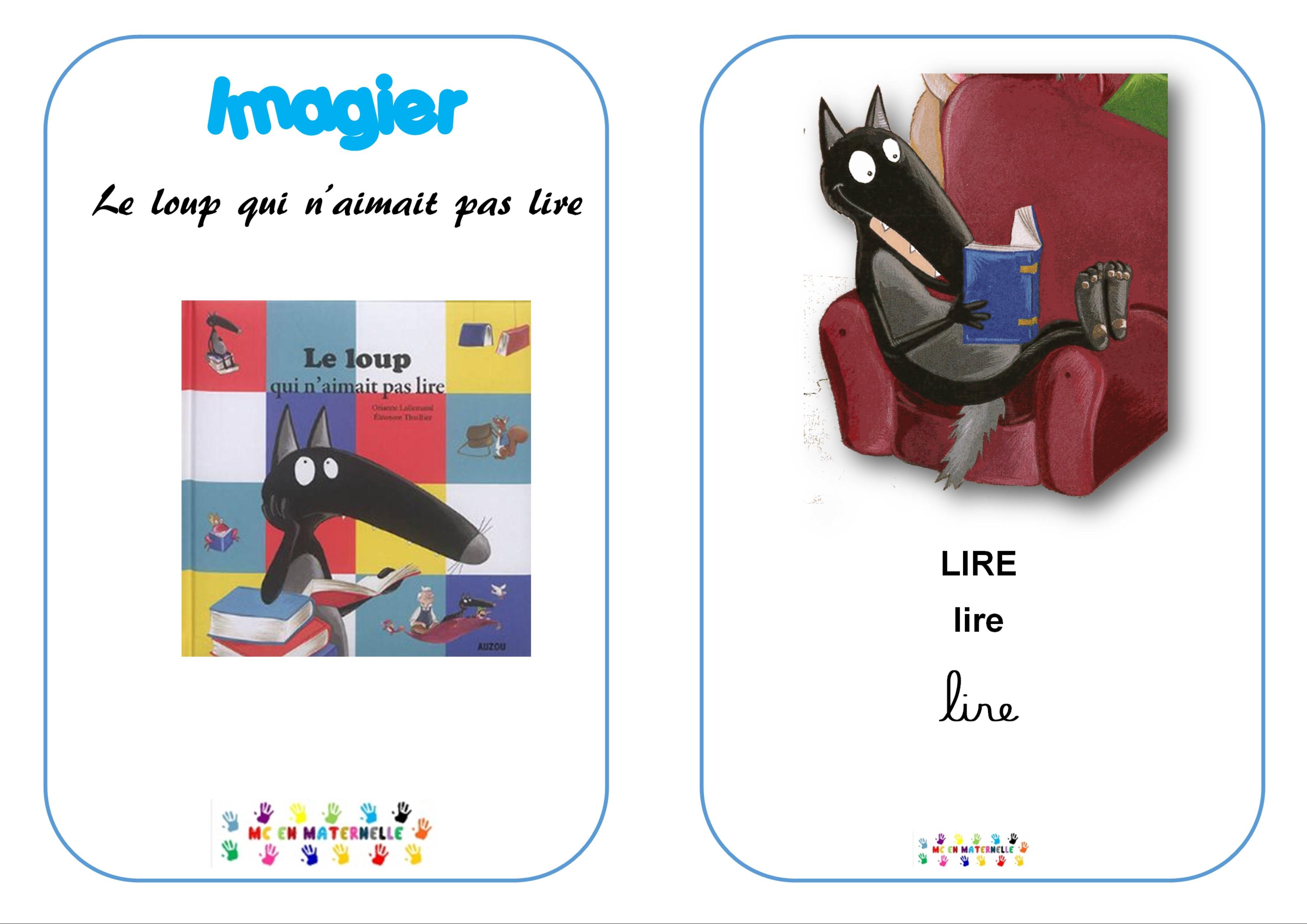 Le Loup Qui N'aimait Pas Lire : Imagier – Mc En Maternelle destiné Le Petit Ogre Qui Voulait Apprendre À Lire