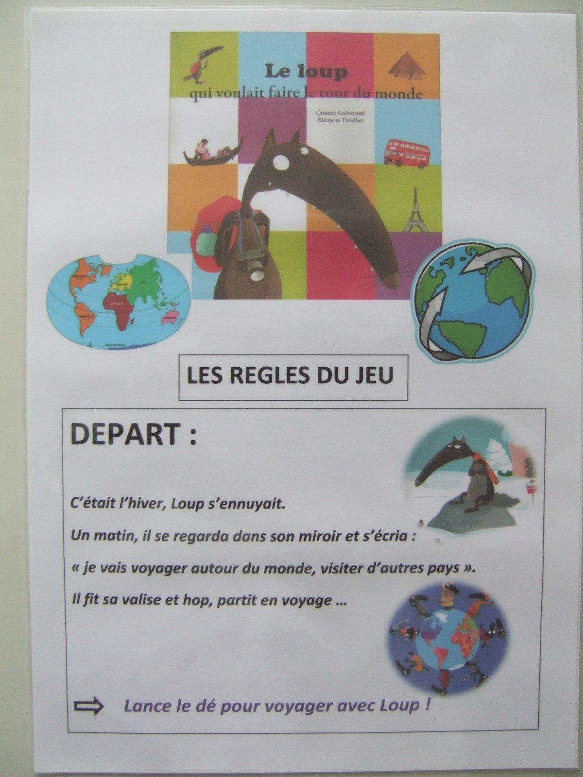 Le Loup Qui Voulait Faire Le Tour Du Monde. | Jeu De L'oie dedans Le Petit Ogre Qui Voulait Apprendre À Lire