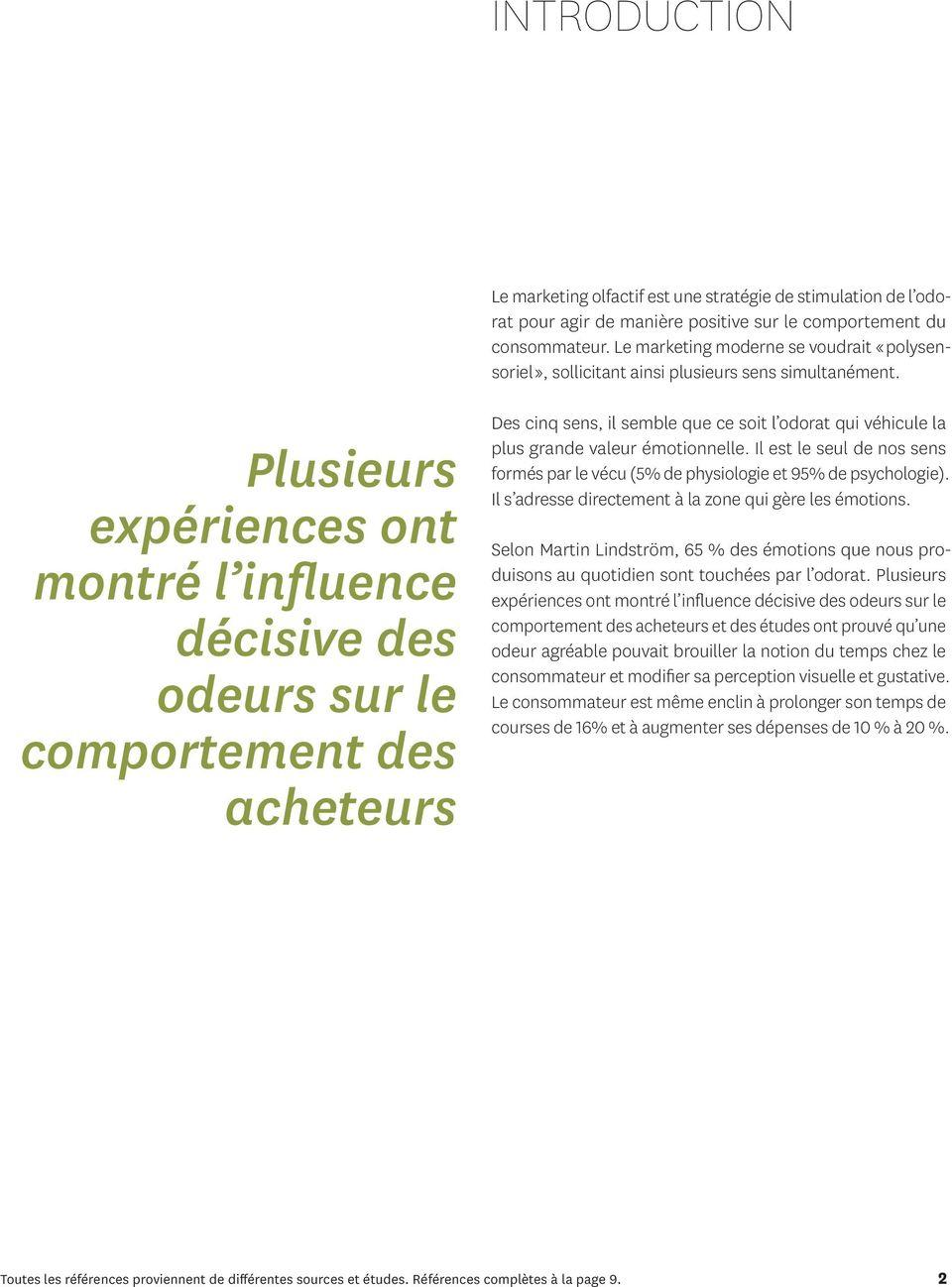 Le Marketing Olfactif Références Et Études De Cas - Pdf encequiconcerne Sens Olfactif