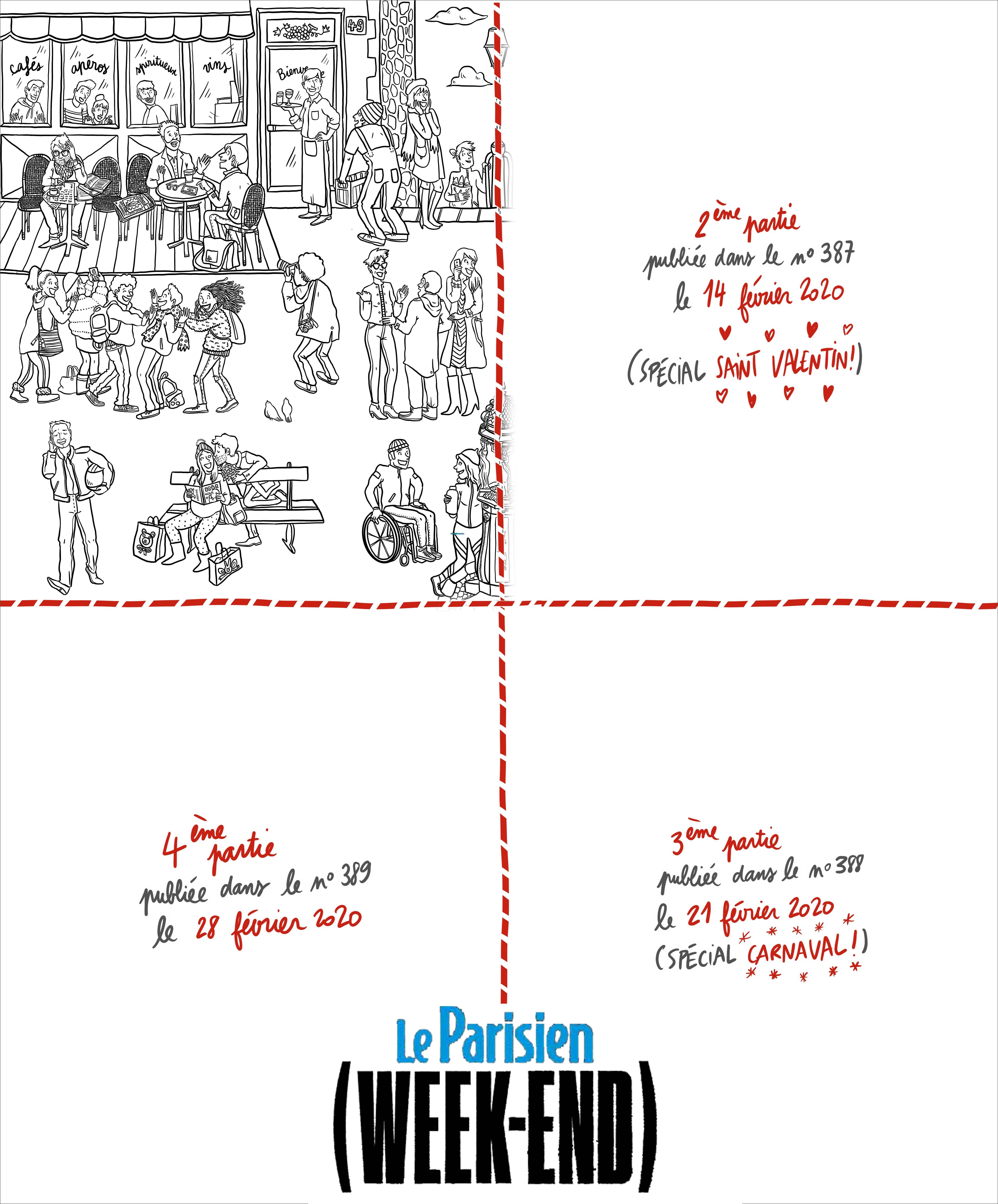Le Parisien Magazine - Johannatds destiné Coloriage Février