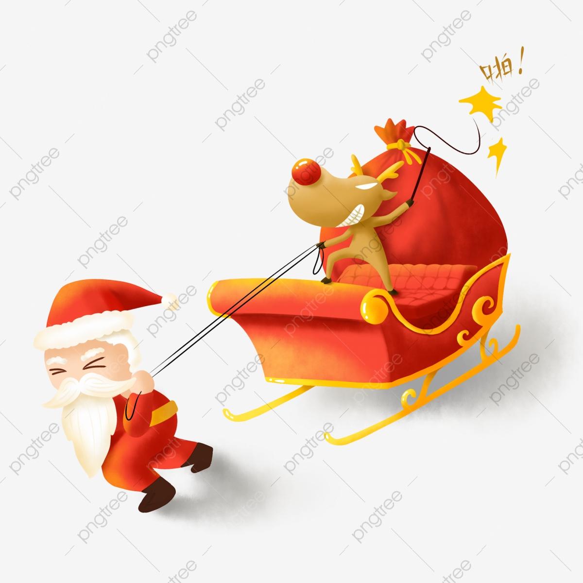Le Père Noël De L'élan De Traîneau, Le Père Noël, Elk tout Image De Traineau Du Pere Noel