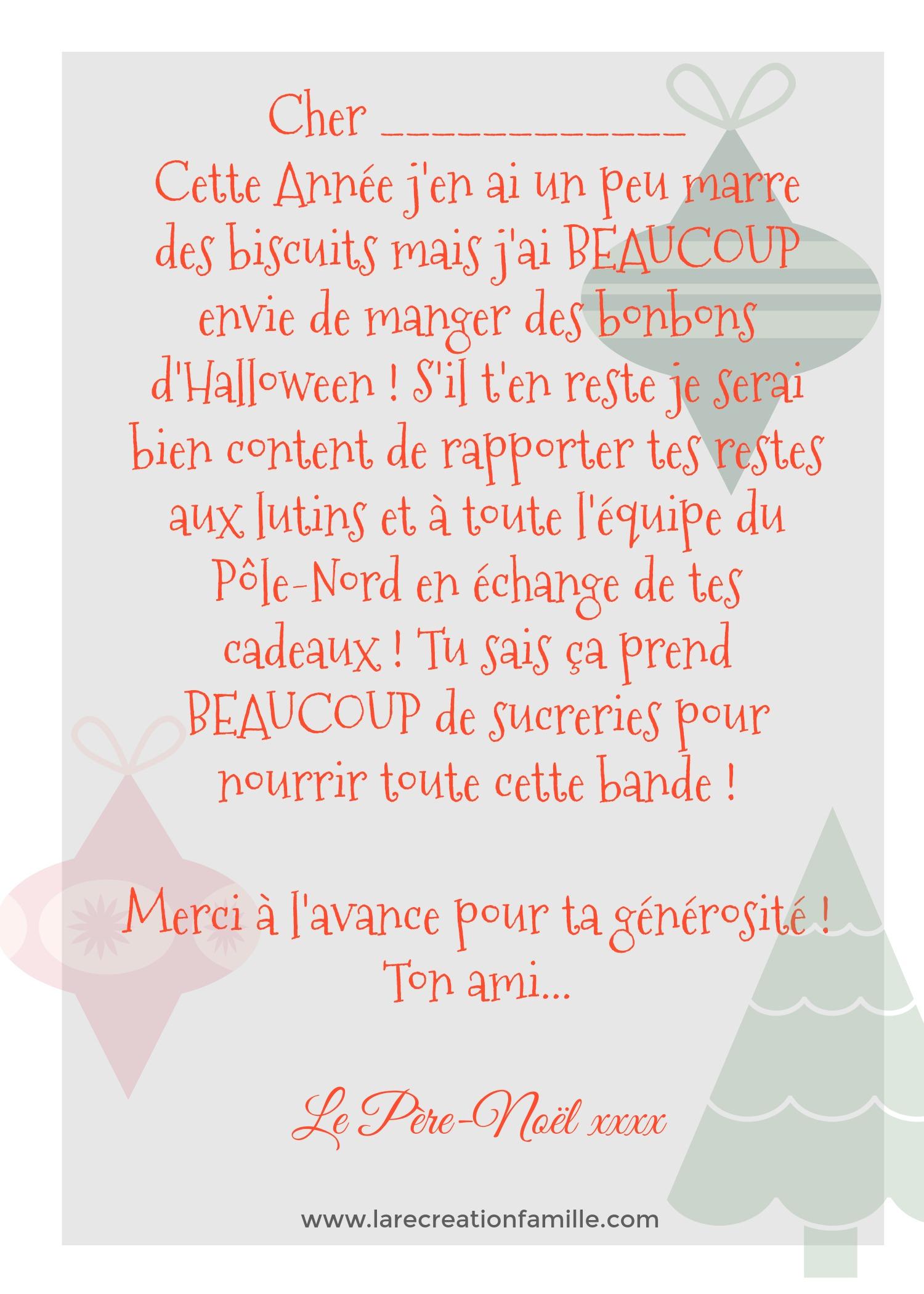 Le Père-Noël Échange Votre Vieux Sac De Bonbons D'halloween dedans Reponse Lettre Du Pere Noel A Imprimer