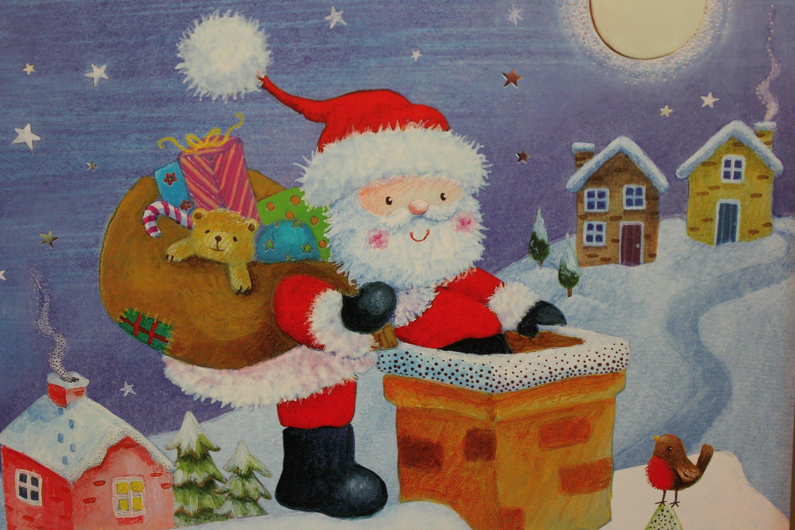 Le Père Noël - Sons Et Images Usborne°° - Le Pays Des Merveilles tout Image Du Pere Noel Et Son Traineau