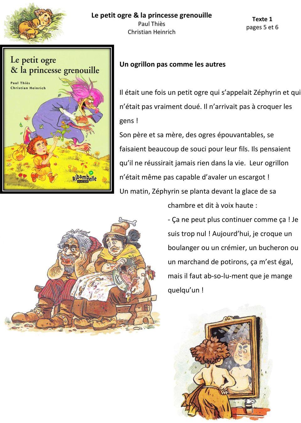 Le Petit Ogre & La Princesse Grenouille Paul Thiès Christian concernant Le Petit Ogre Qui Voulait Apprendre À Lire