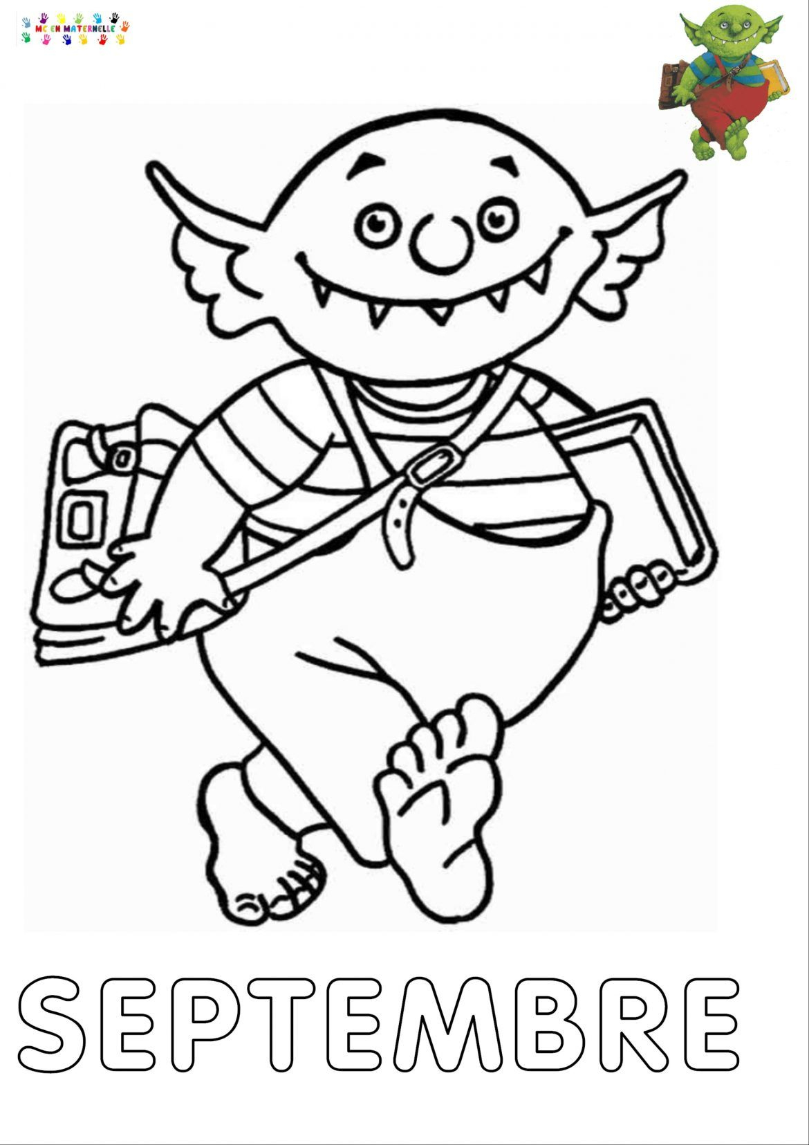 Le Petit Ogre Qui Veut Aller À L'école : Mois De Septembre à Le Petit Ogre Qui Voulait Apprendre À Lire
