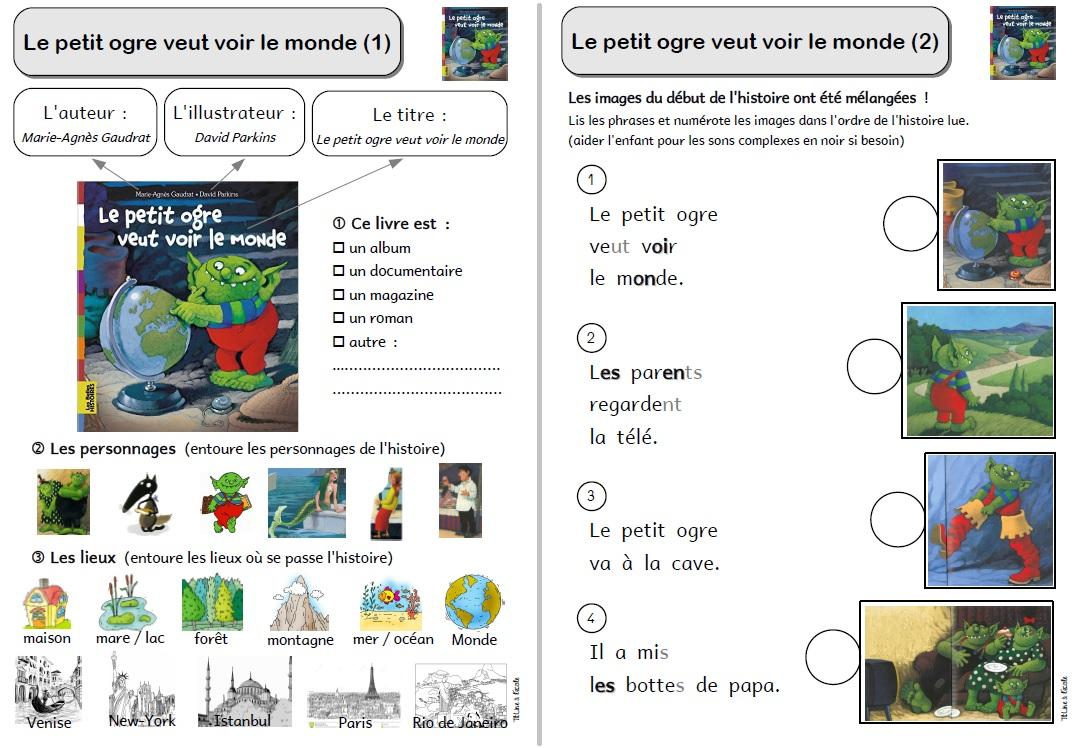 Le Petit Ogre Veut Voir Le Monde | Titline À L'école concernant Le Petit Ogre Qui Voulait Apprendre À Lire