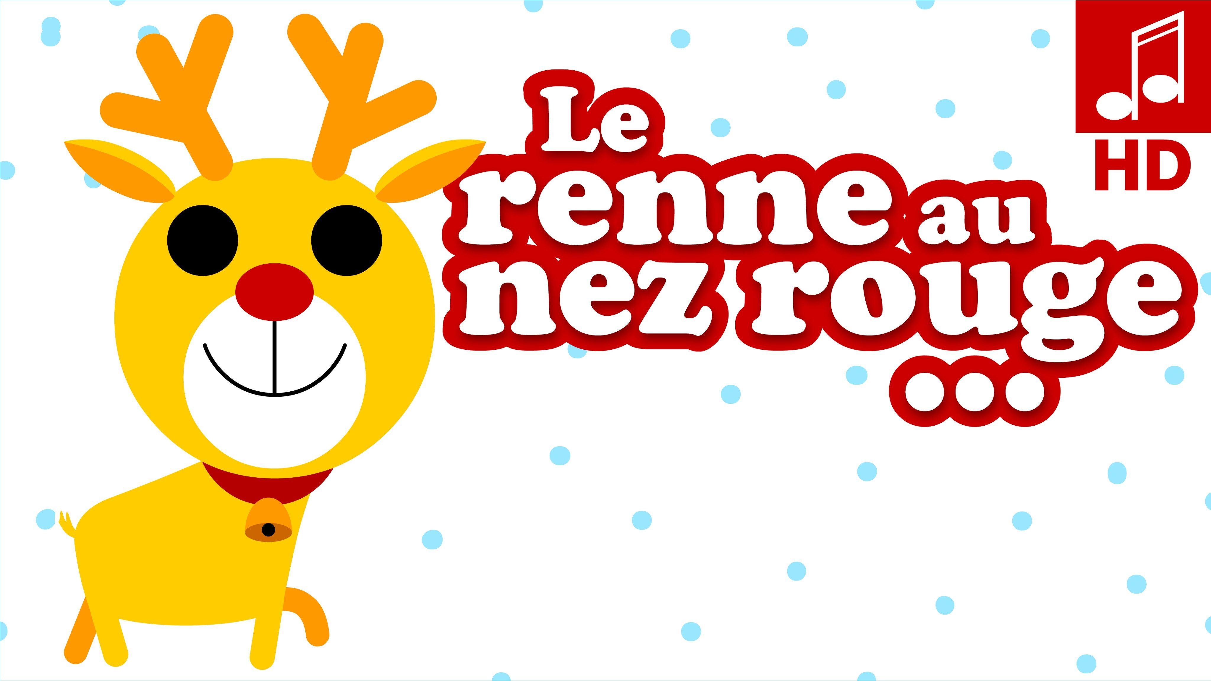 Le Petit Renne Au Nez Rouge Chanson De Noël Pour Bébé Et avec Chanson Dans Son Manteau Rouge Et Blanc