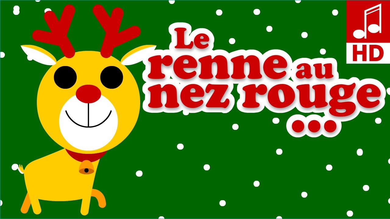 Le Petit Renne Au Nez Rouge Chansons Et Comptines De Noël Pour Bébé Et  Maternelles avec Chanson Dans Son Manteau Rouge Et Blanc