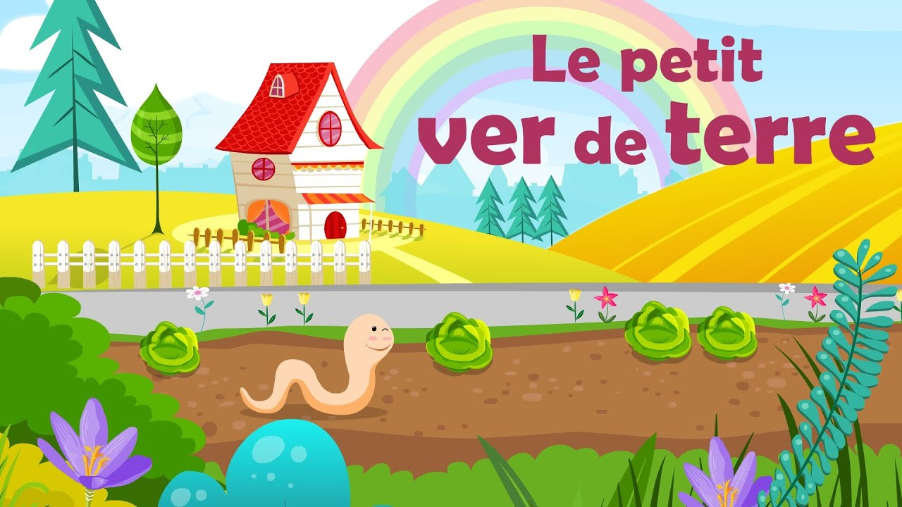 Le Petit Ver De Terre - French Nursery Rhyme For Kids And Babies (With  Lyrics) dedans L As Tu Vu Paroles