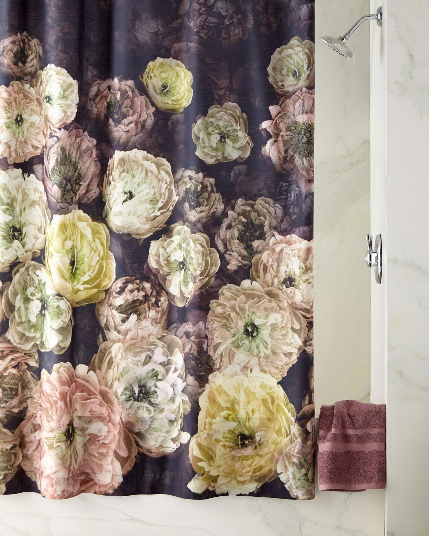 Le Poeme De Fleurs Midnight Shower Curtain pour Poeme Les Fleurs