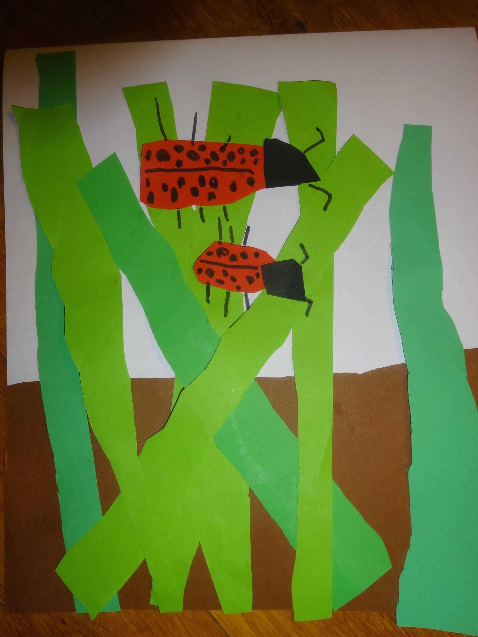 Le Projet De Noé : Coccinelles Dans L'herbe | Activités À La avec Coccinelle A Coller