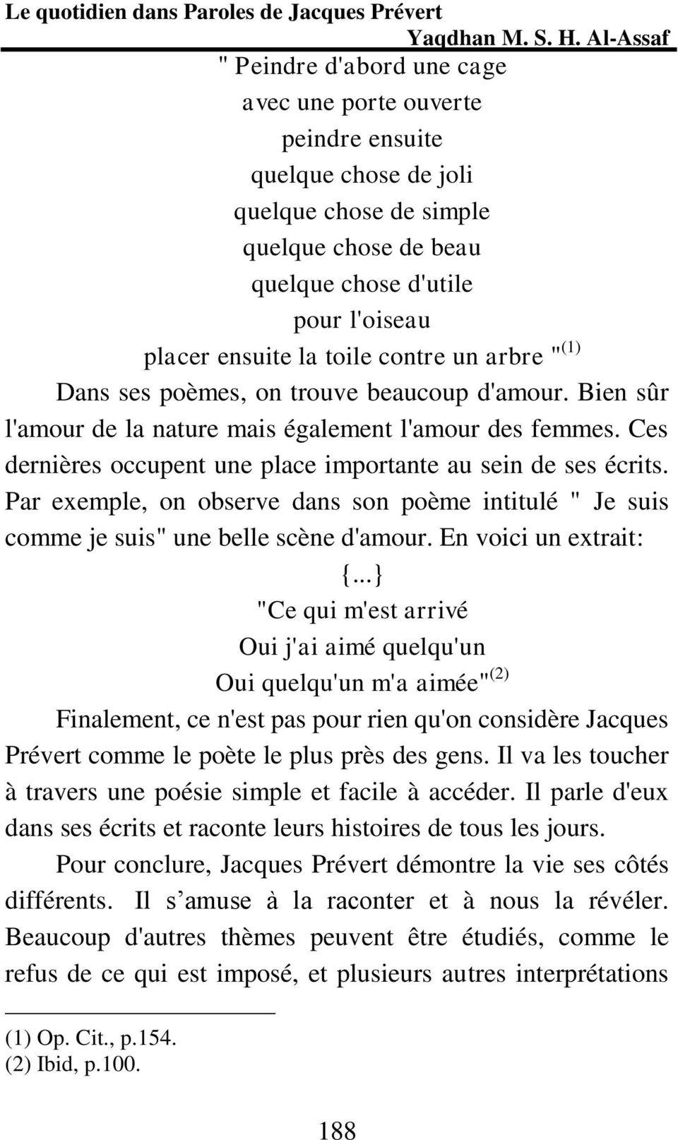 Le Quotidien Dans Paroles De Jacques Prévert - Pdf Free Download serapportantà Poeme De Jacque Prevert