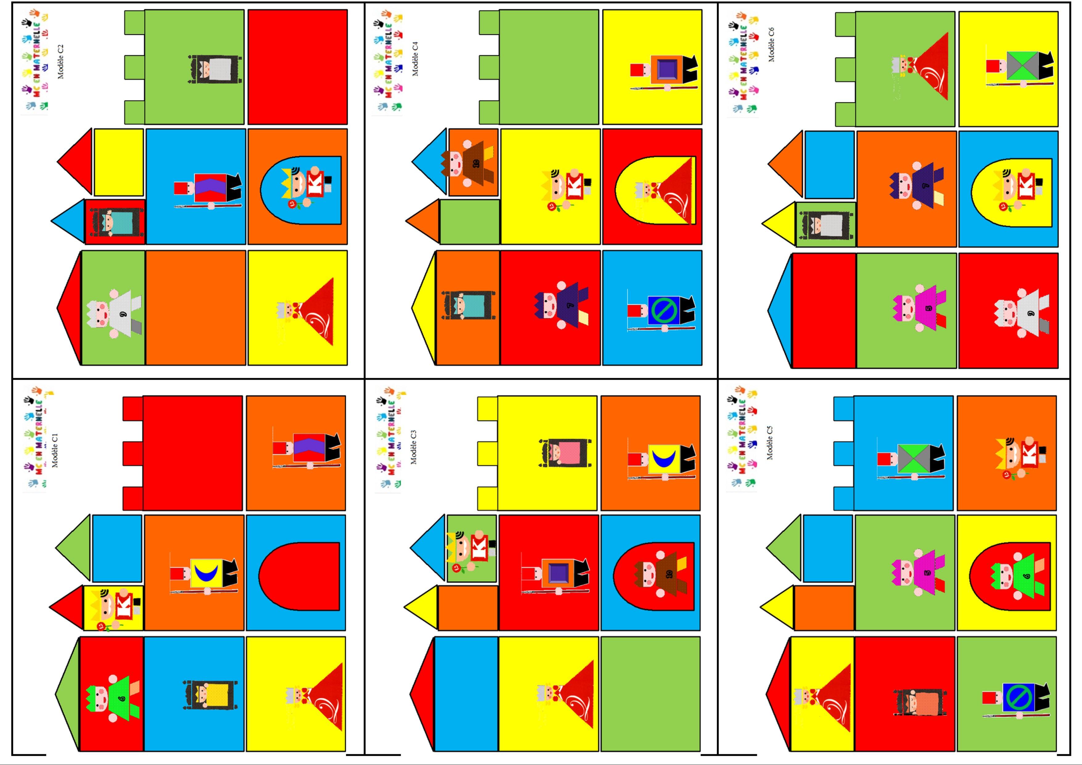 Le Tout Petit Roi : Construire Un Château En Suivant Une destiné Découpage Collage Maternelle À Imprimer