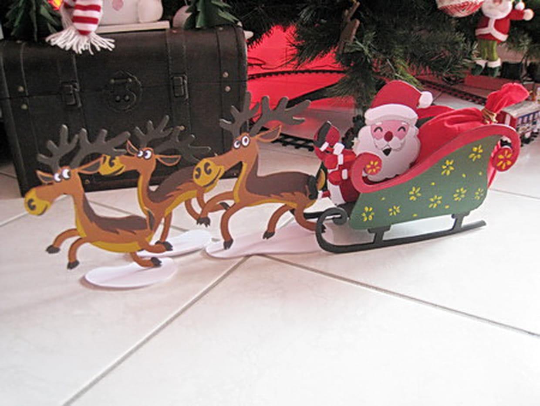 Le Traîneau Du Père Noël pour Image Du Pere Noel Et Son Traineau
