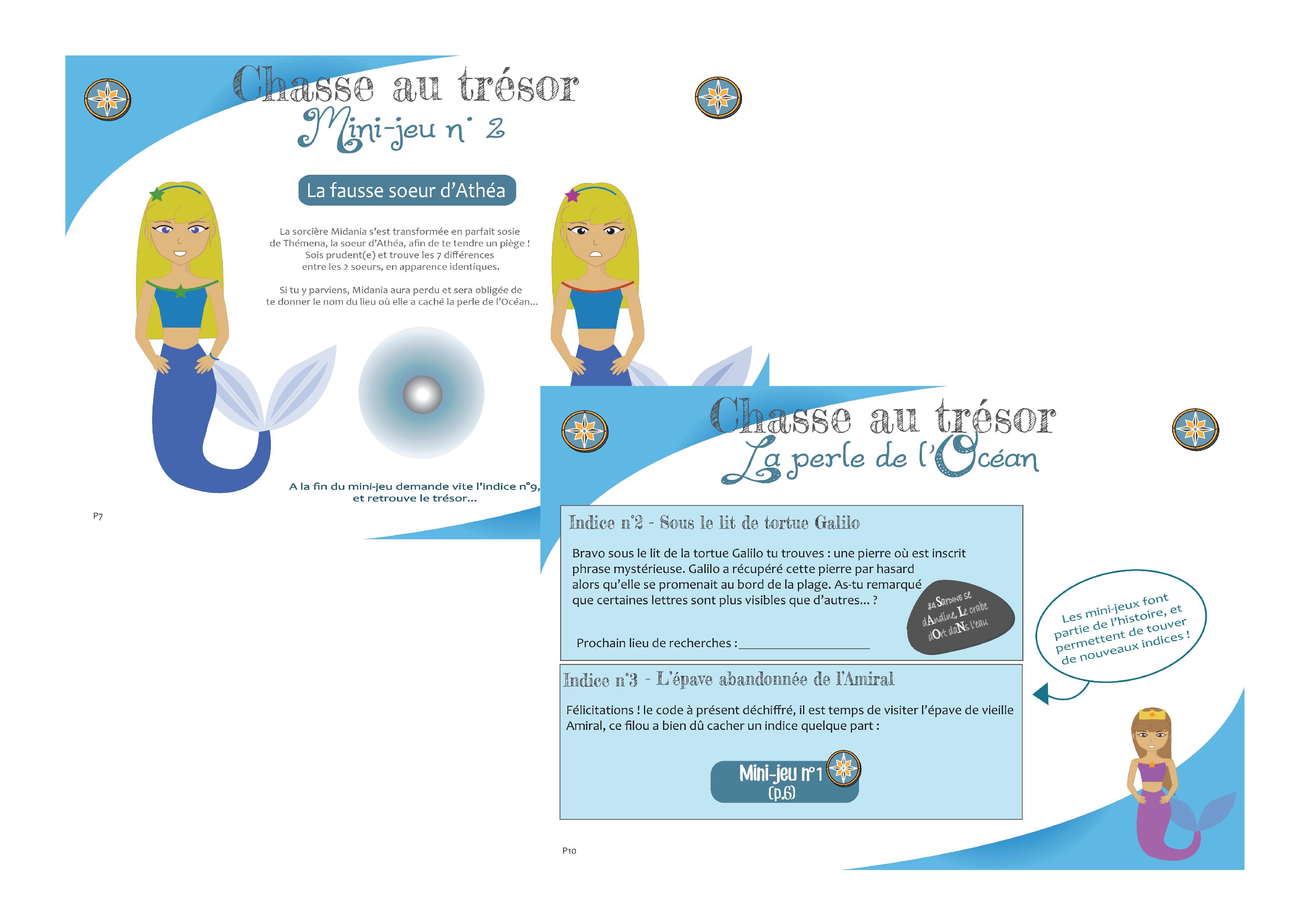 Le Trésor Magique Des Sirènes (7/10 Ans)   Chasse Au Trésor concernant Activité Chasse Au Trésor