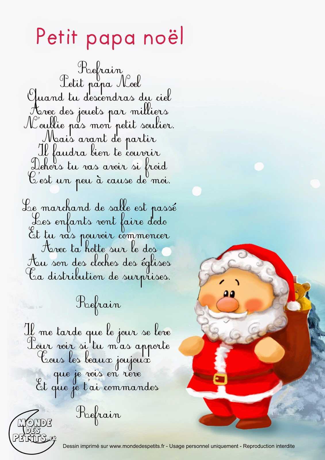 Learn&play - Histoires De Pompoms Wish You A Merry Christmas intérieur Papa Noel Parole