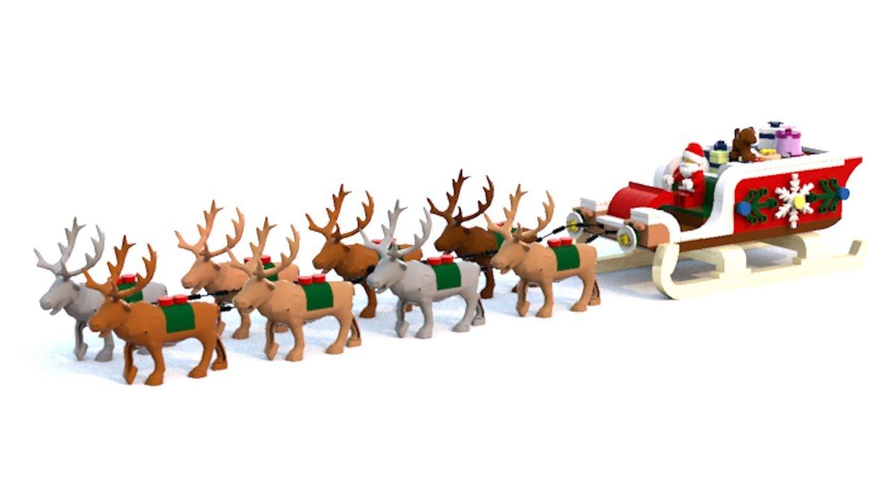 Lego - Le Traîneau Et Les Rennes Du Père Noël - Santa's Sleigh And Reindeer  - Moc intérieur Image De Traineau Du Pere Noel