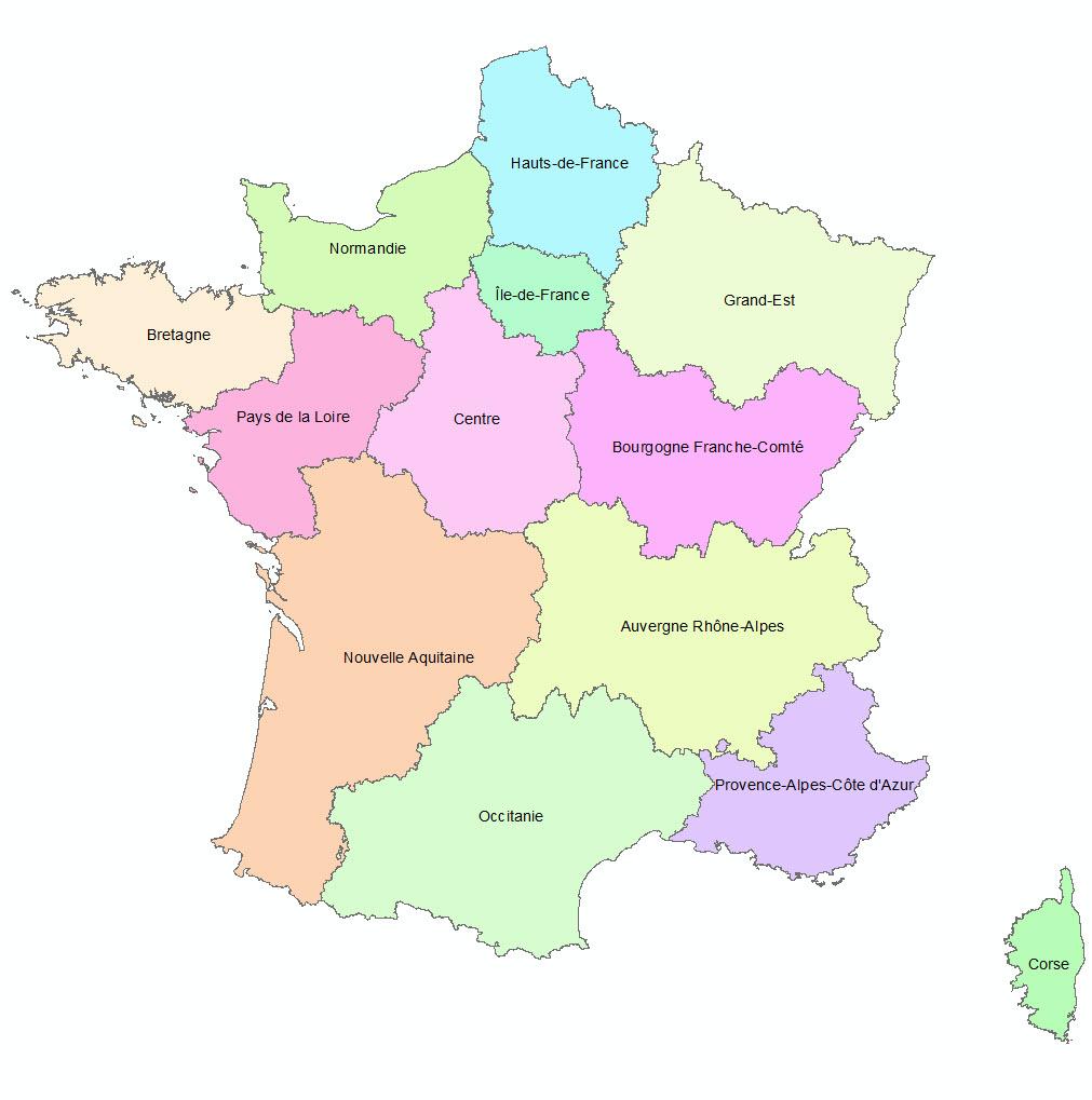 Les 13 Nouvelles Régions Françaises - Paloo Blog concernant Nouvelle Region France