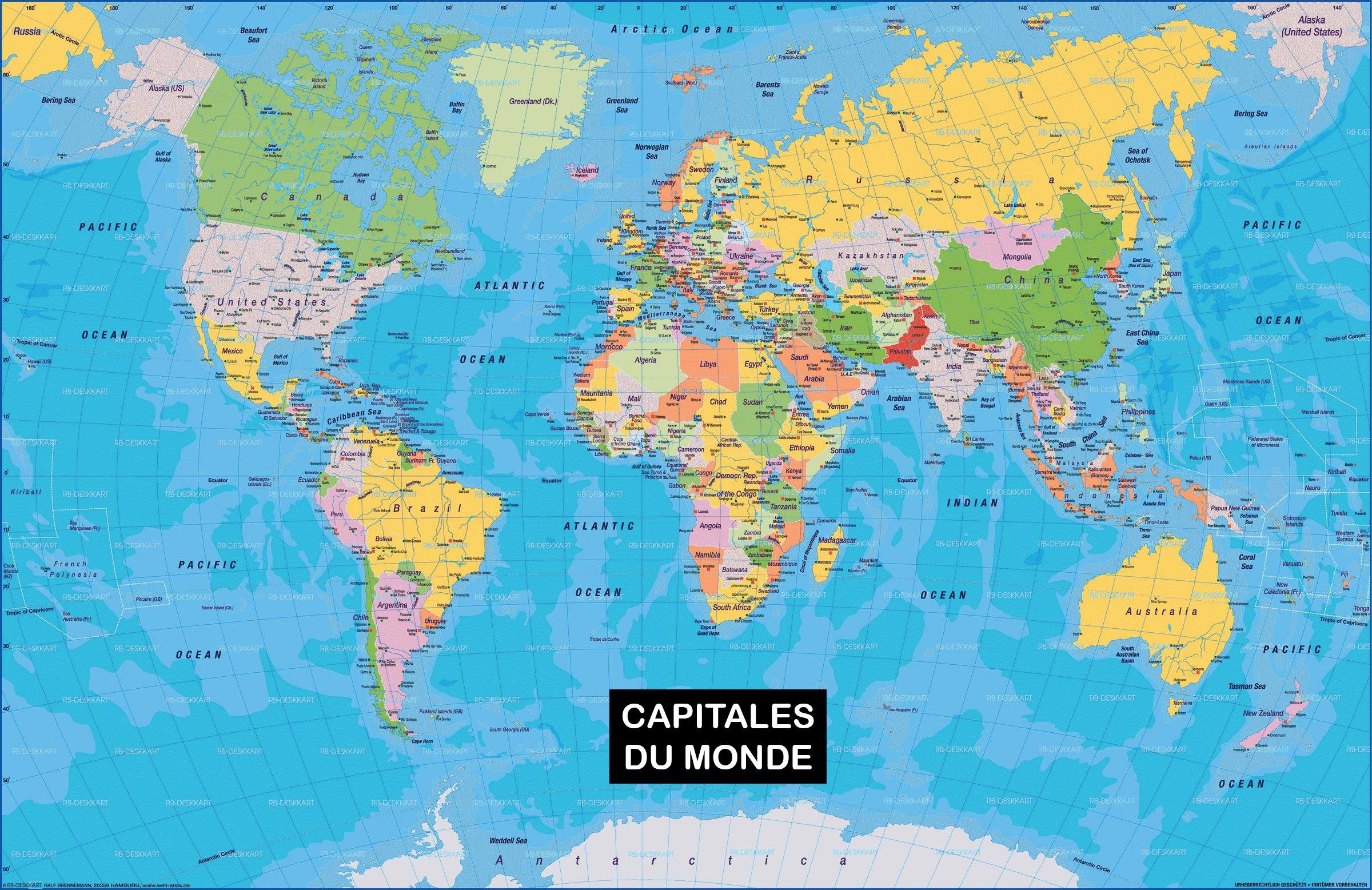 Les Capitales Du Monde » Vacances - Arts- Guides Voyages intérieur Carte Europe Avec Capitales