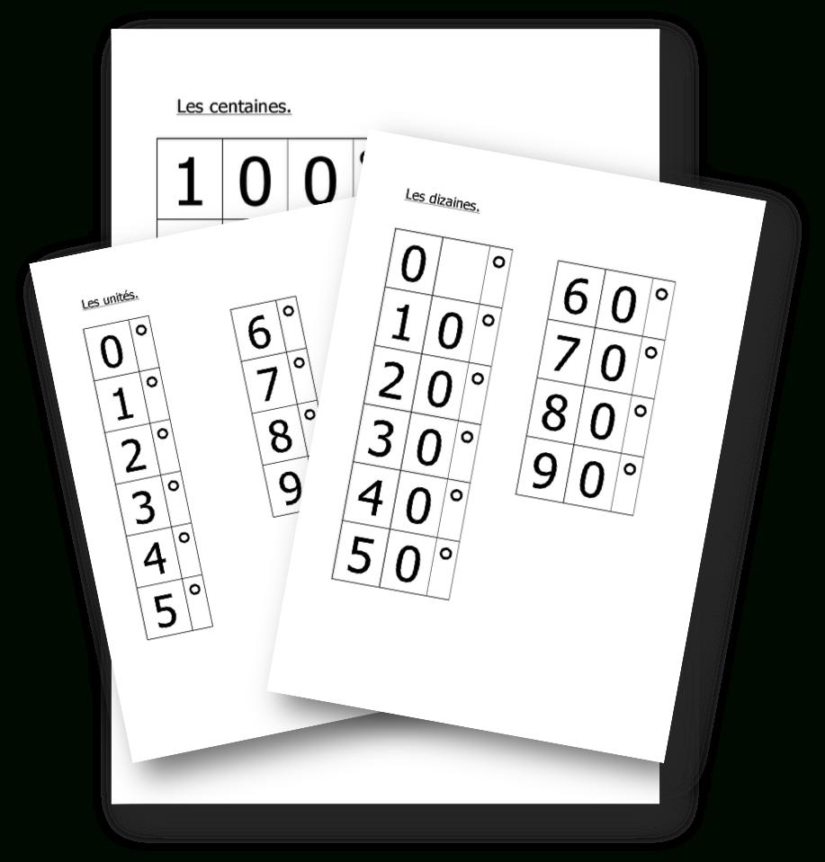 Les Cartons Montessori Pour Écrire Les Nombres En Chiffres À intérieur Les Nombres De 0 À 20