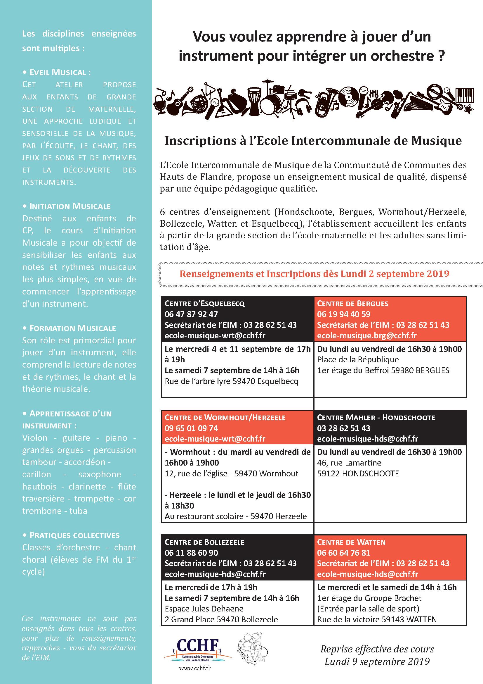 Les Centres D'enseignement Musical | Communauté De Communes pour Grande Section Maternelle Age