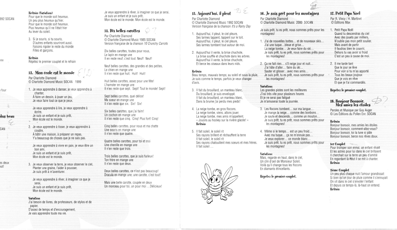 Les Chansons Thèmatiques - Larisa Peresada's Web pour Papa Noel Parole